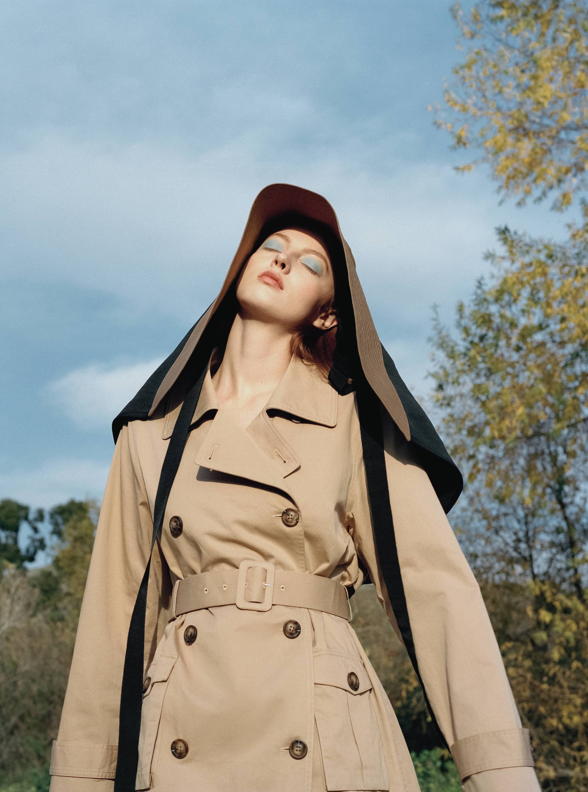 Self-Portrait for Wonderland Spring issue trench