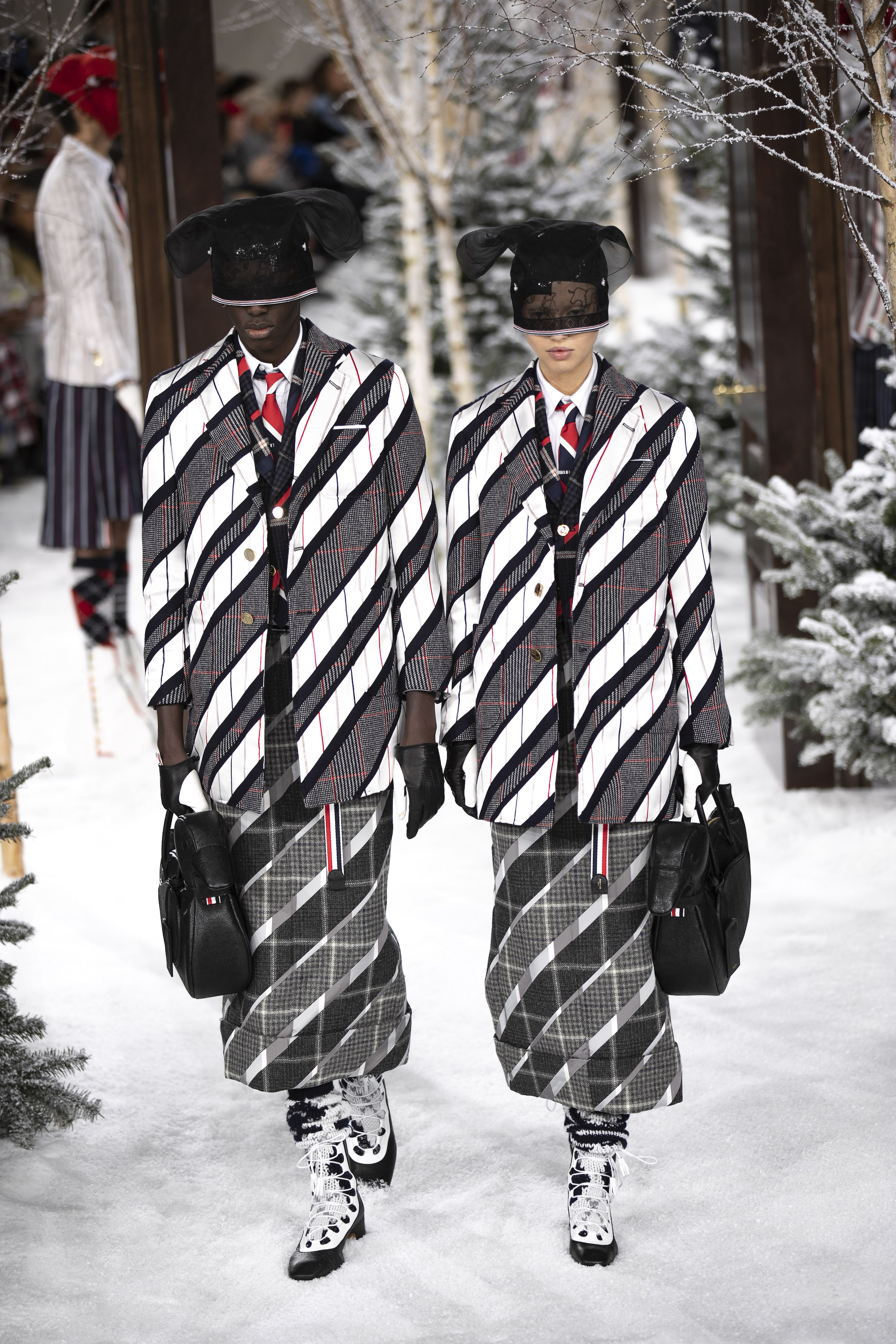 Thom Browne AW20 PFW Collection stripe blazer
