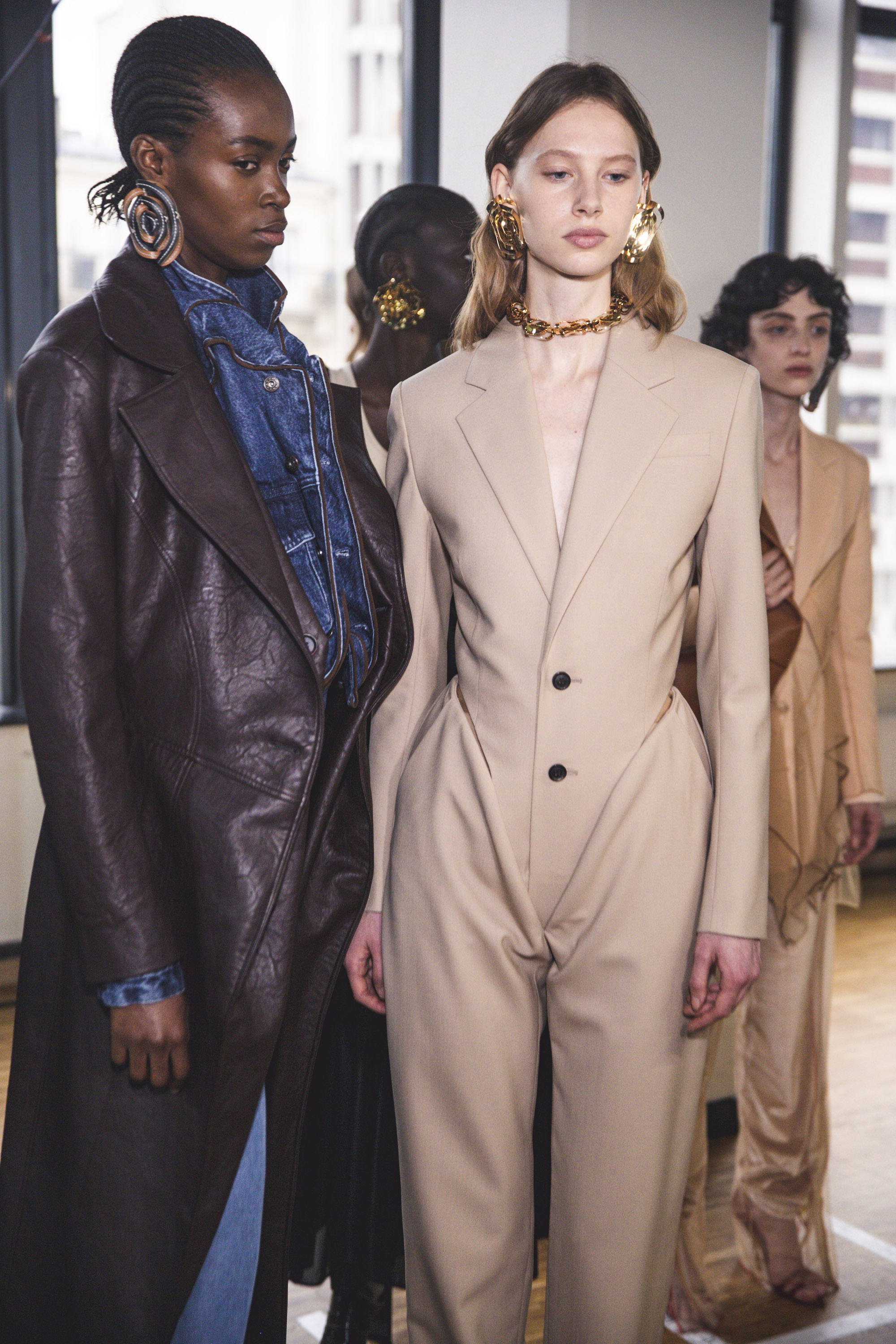 Y Project AW20 PFW beige pant suit