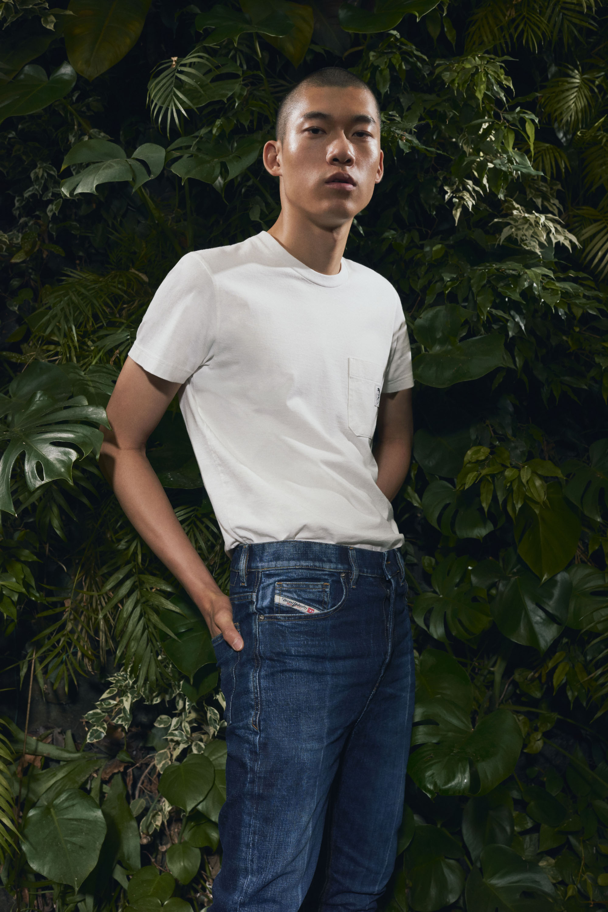 DIESEL INTRODUCES A MORE RESPECTFUL DENIM WITH BRAND'S DNA vertical male model