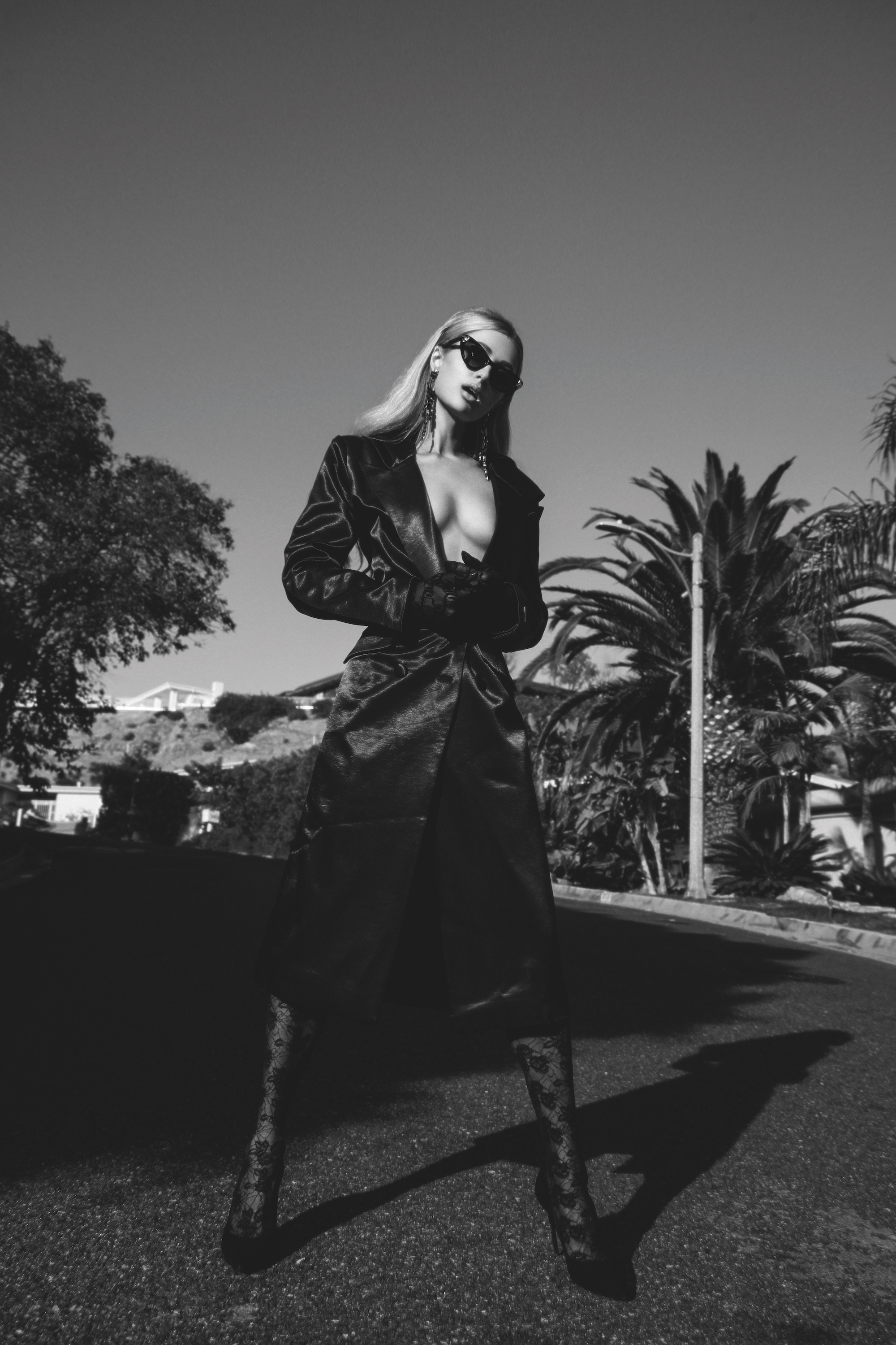 Paris Hilton interview in the Spring/Summer 2020 issue of Rollacoaster wearing Juicy Couture outside