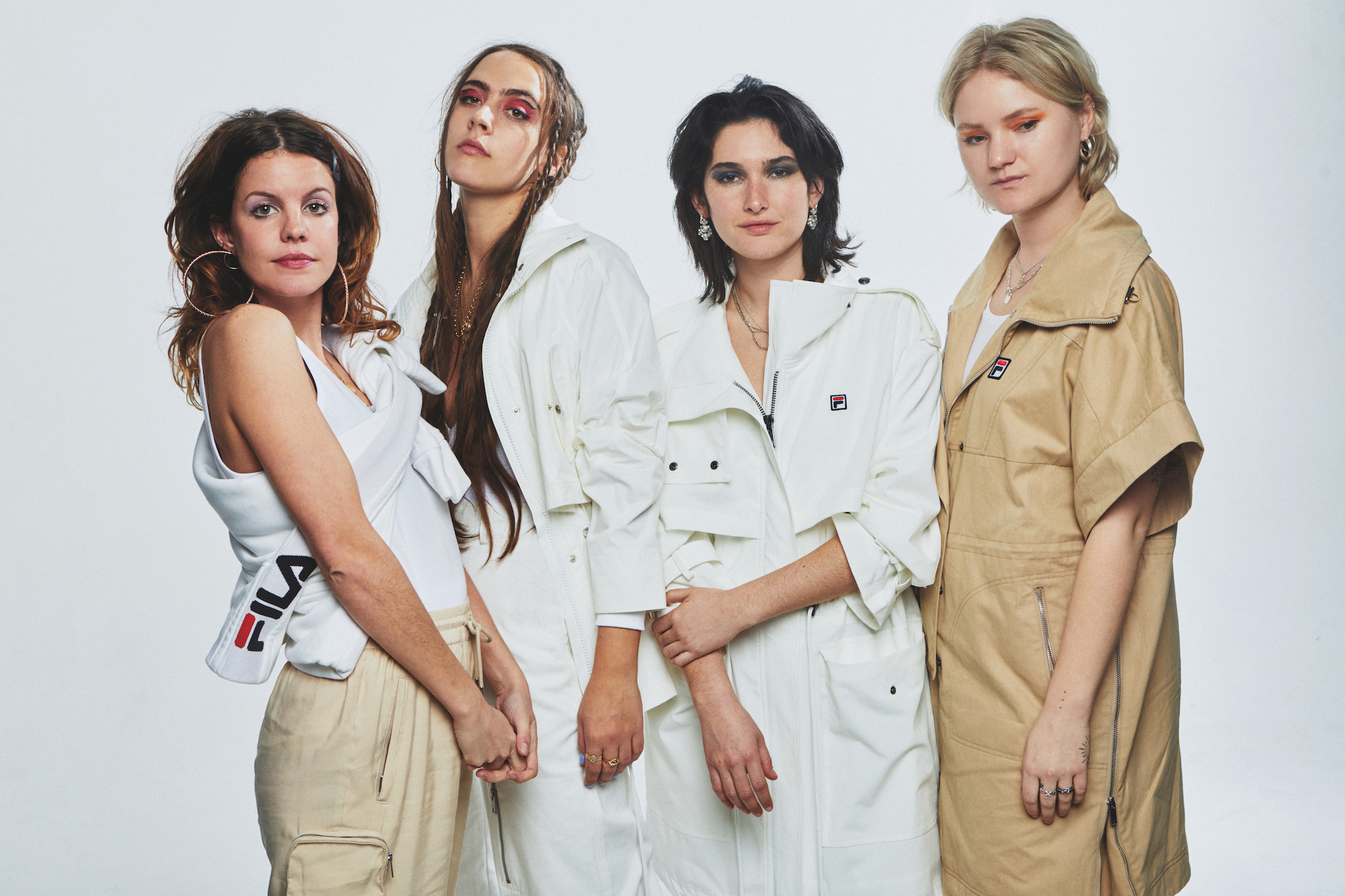 Hinds cover Rollacoaster SS20 issue wearing Fila