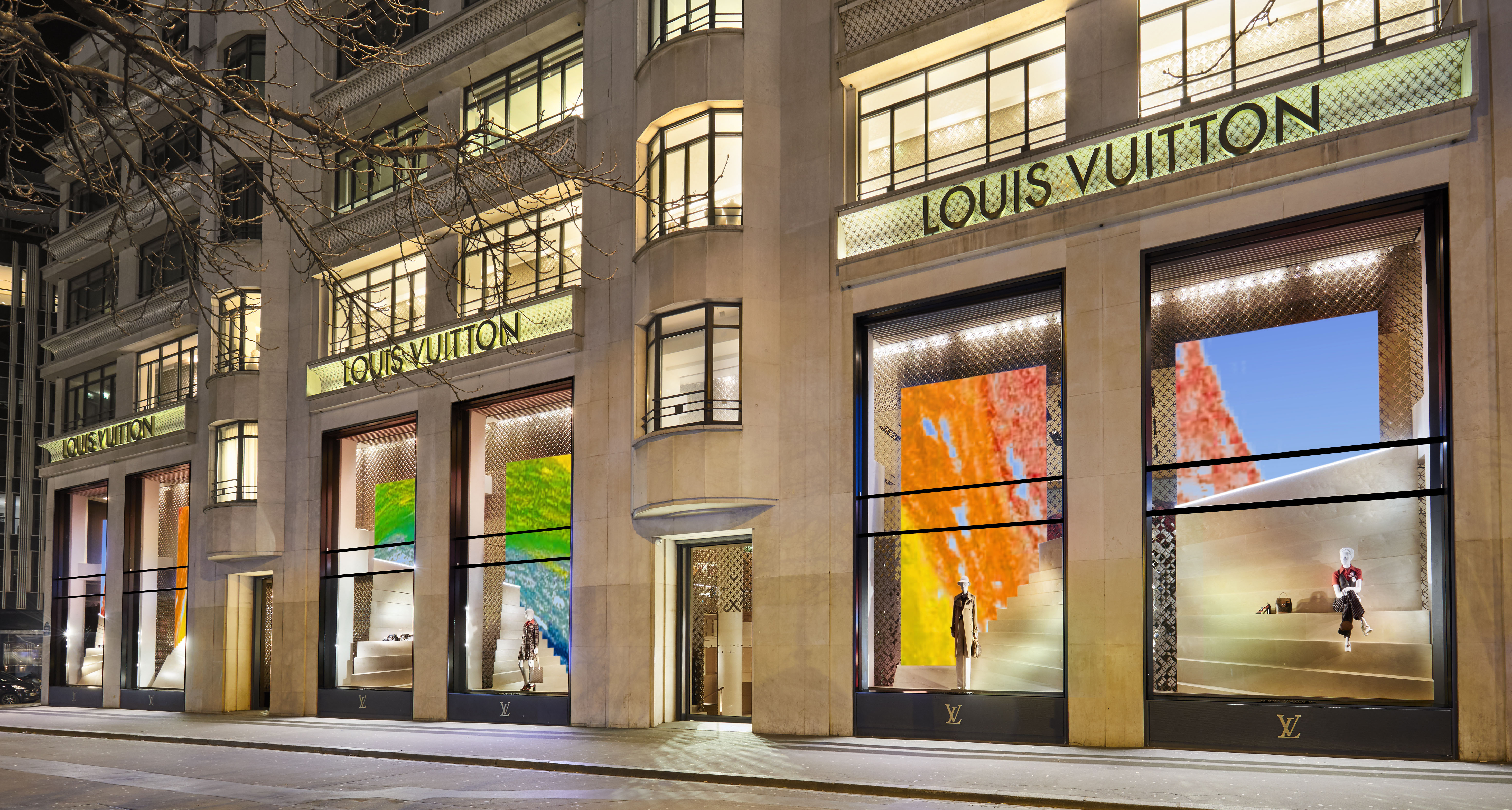 Louis vuitton store front rainbow