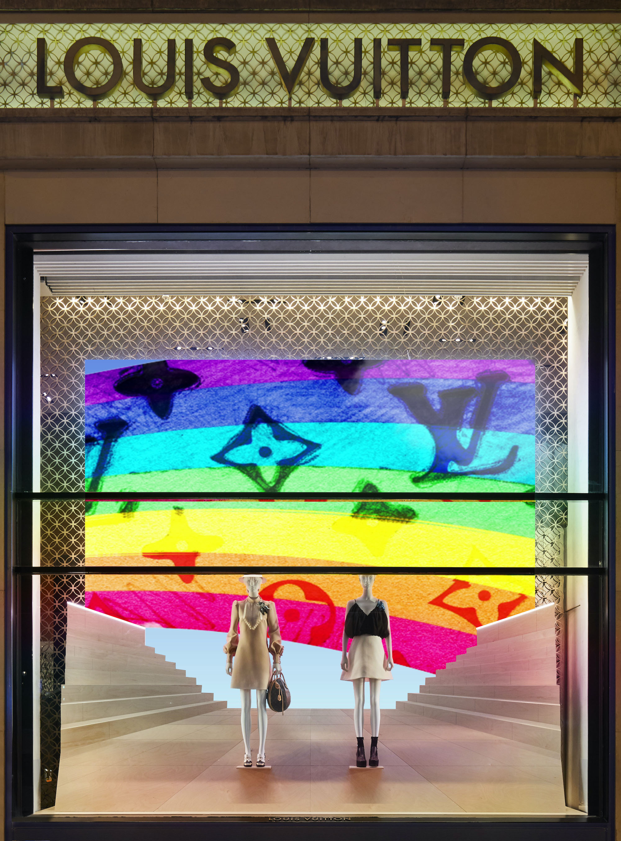 Paris front Louis Vuitton rainbow project