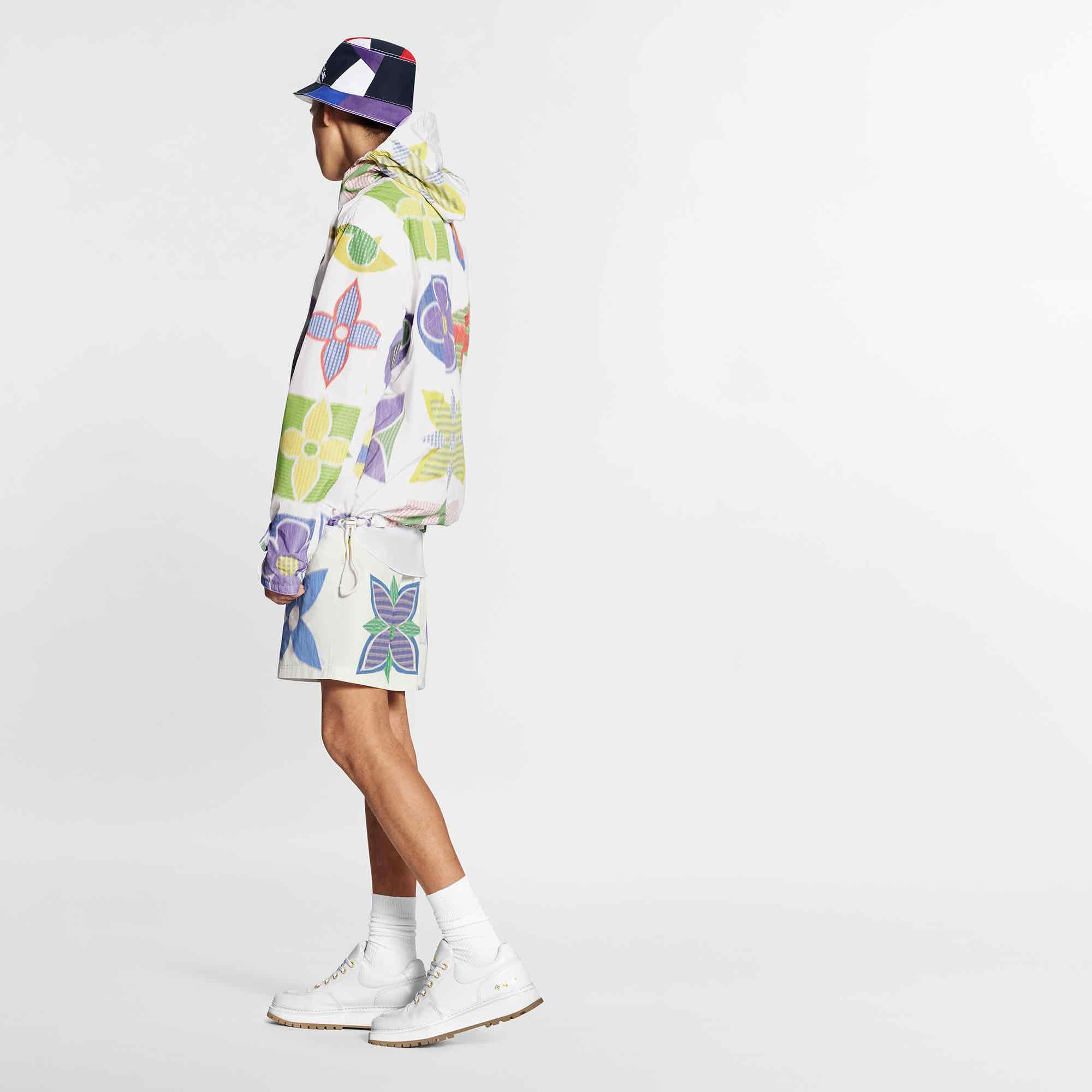 Louis Vuitton co-ord monogtam shorts and jacket capsule collection