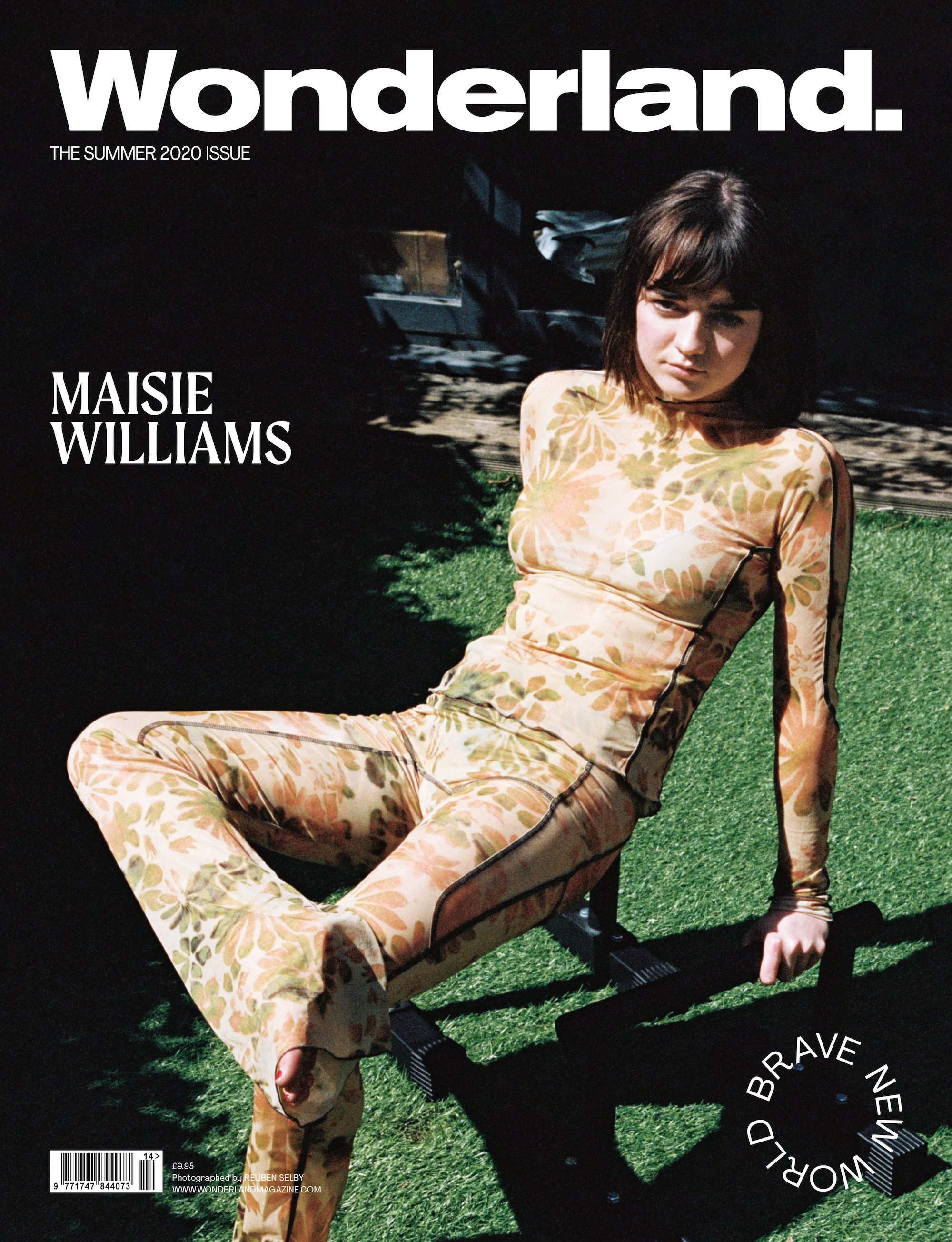 Maisie Wiliams covers the Summer 2020 issue of Wonderland