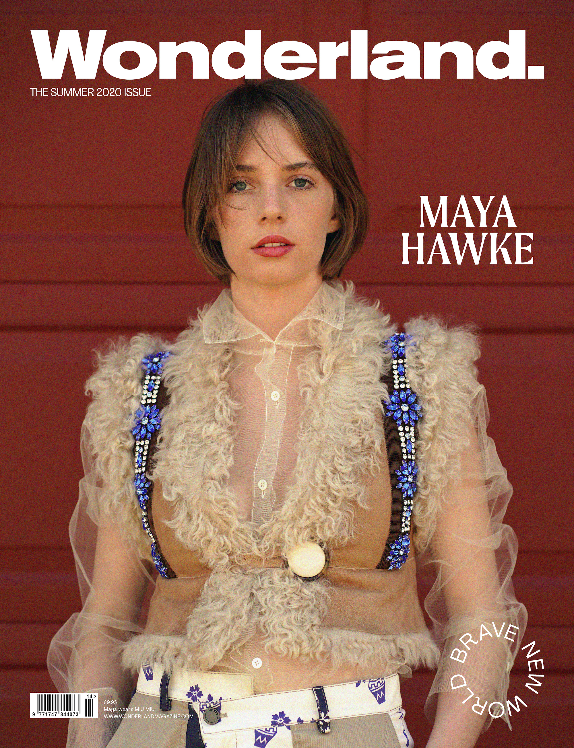 Maya Hawke covers the Summer 2020 issue of Wonderland