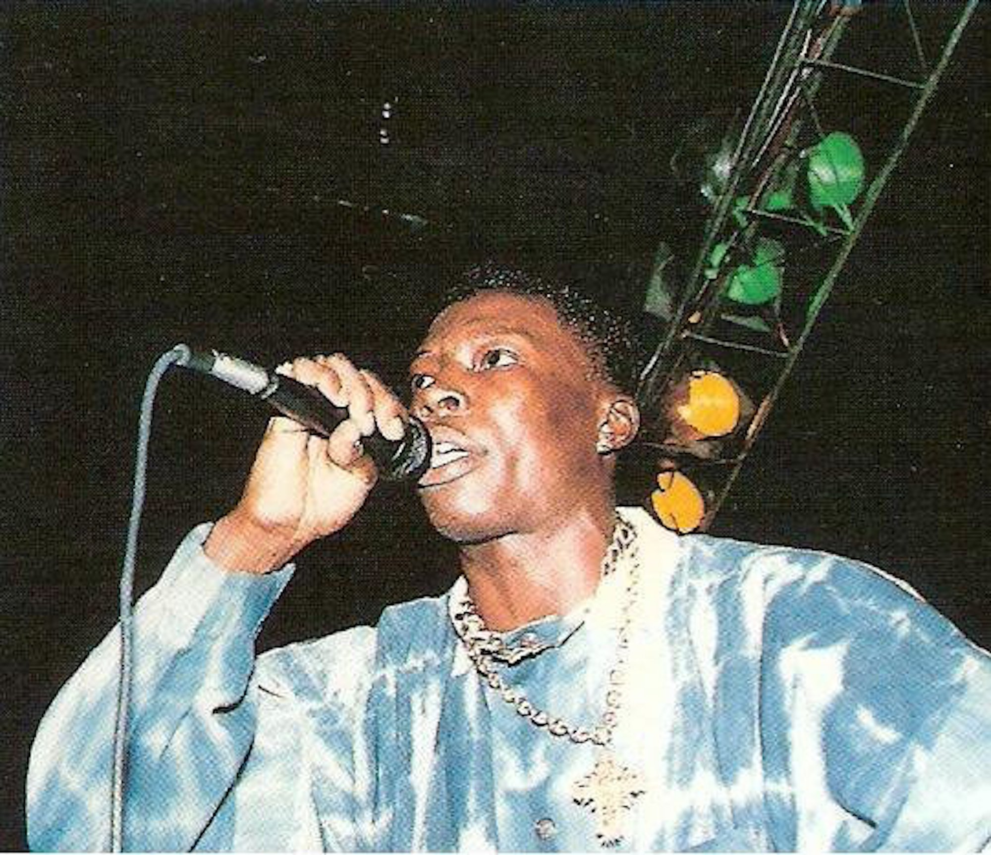-Favourite archive image of Shabba Ranks. - attached below Bianca Saunders blue