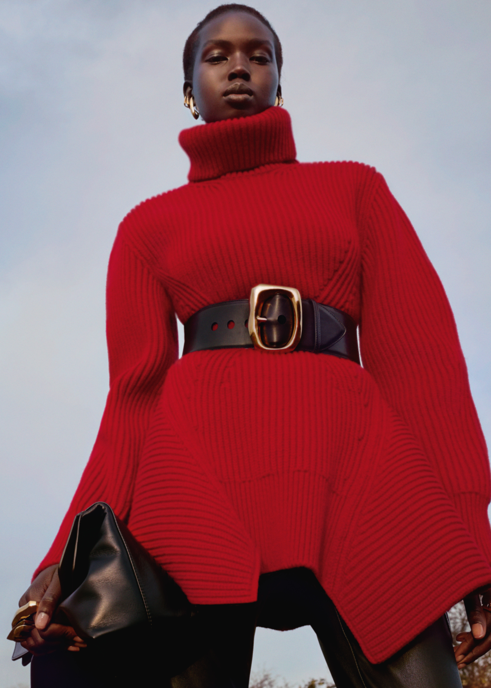 Alexander McQueen Pre-AW20 collection red roll-neck