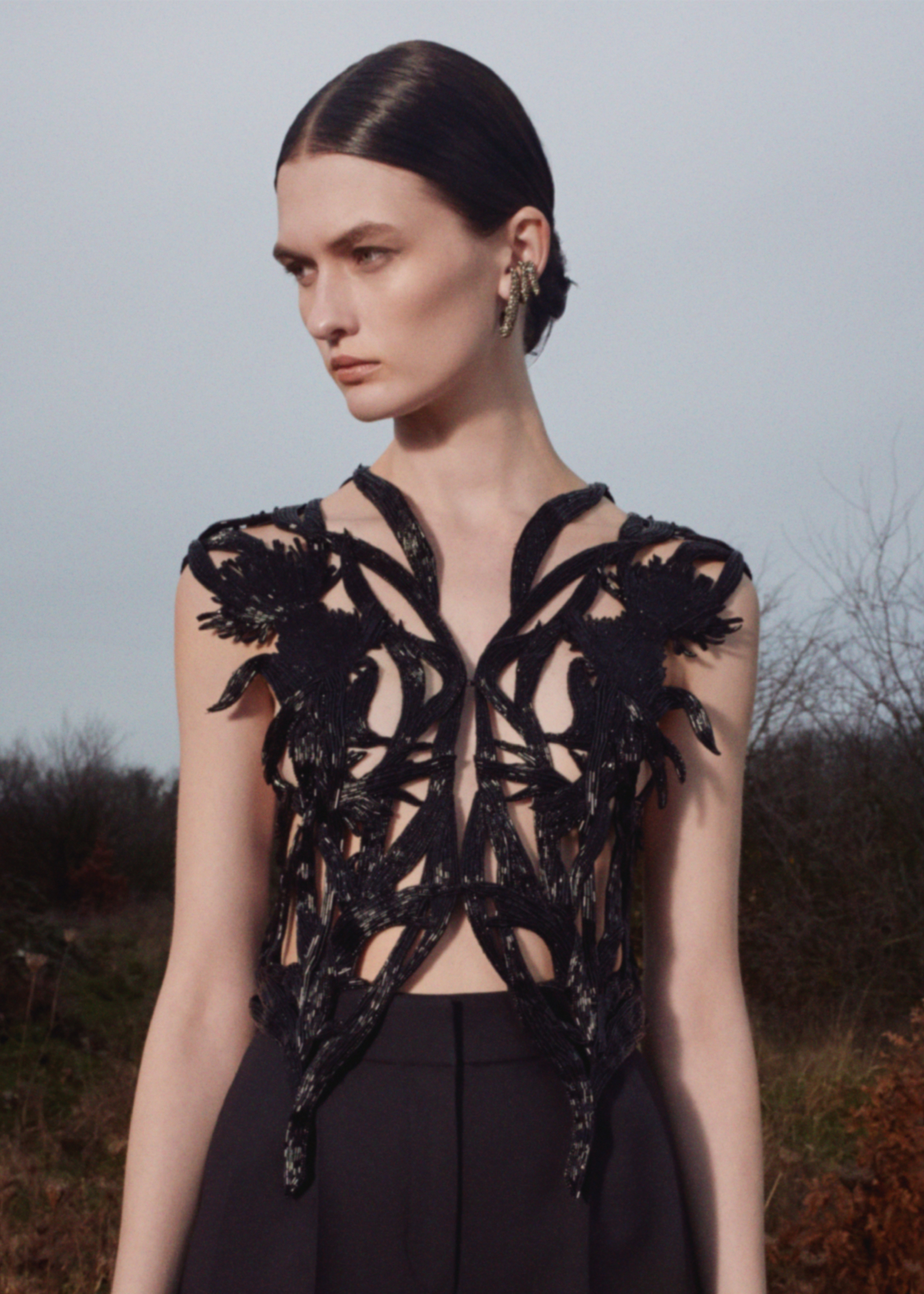 Alexander McQueen Pre-AW20 collection cut out dress
