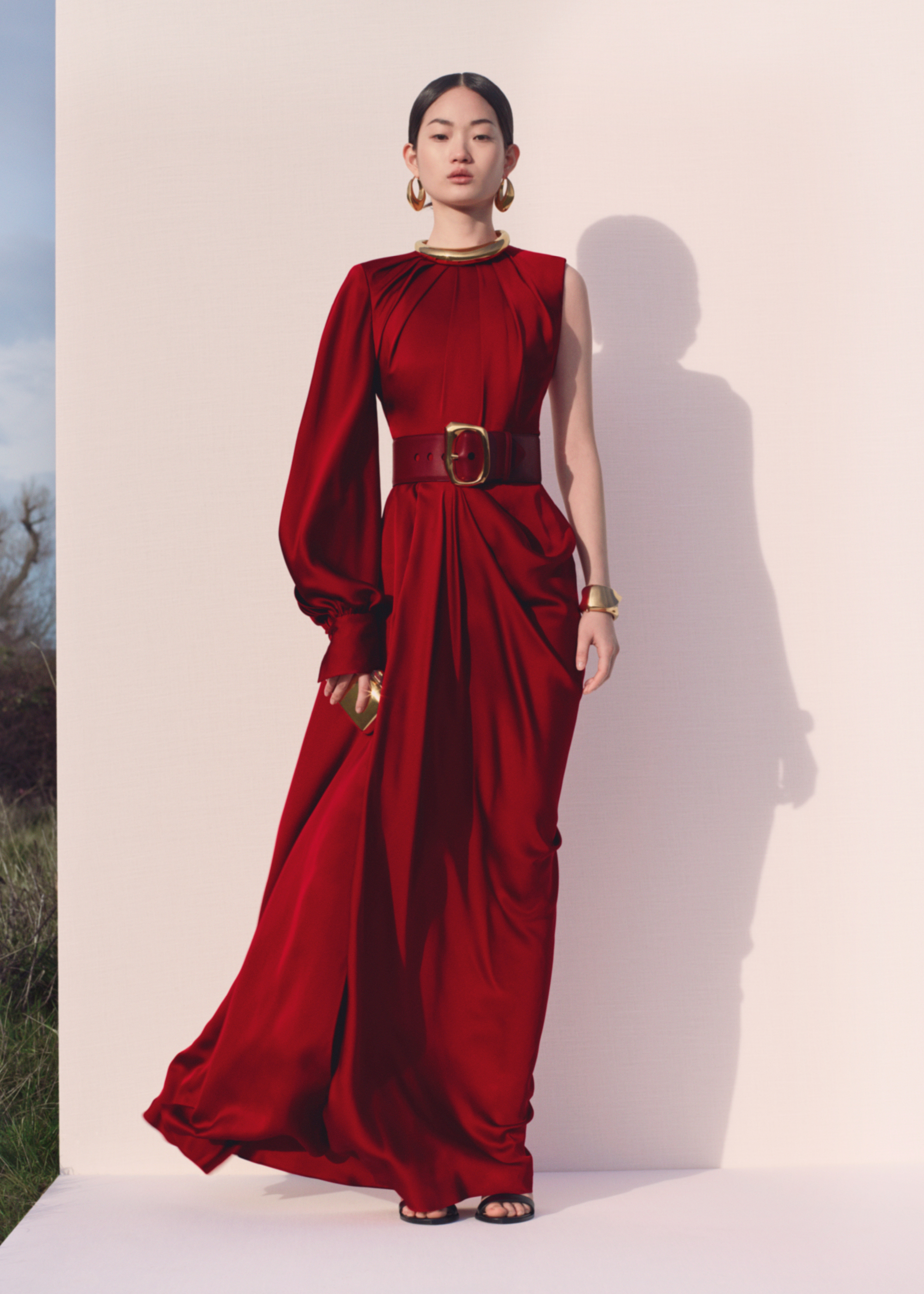 Alexander McQueen Pre-AW20 collection red gown