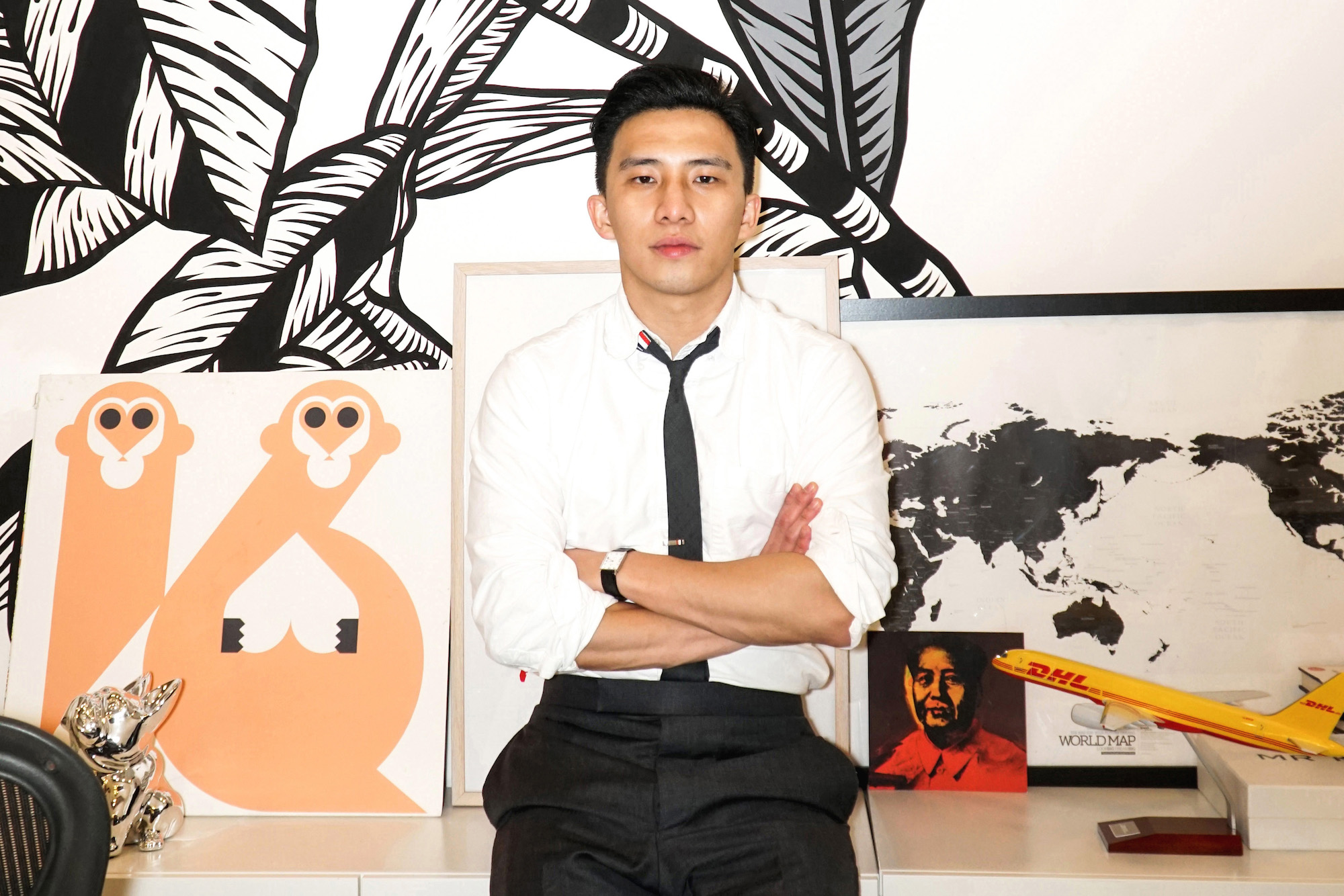 Founder of Casetify Wes Ng in office landscape