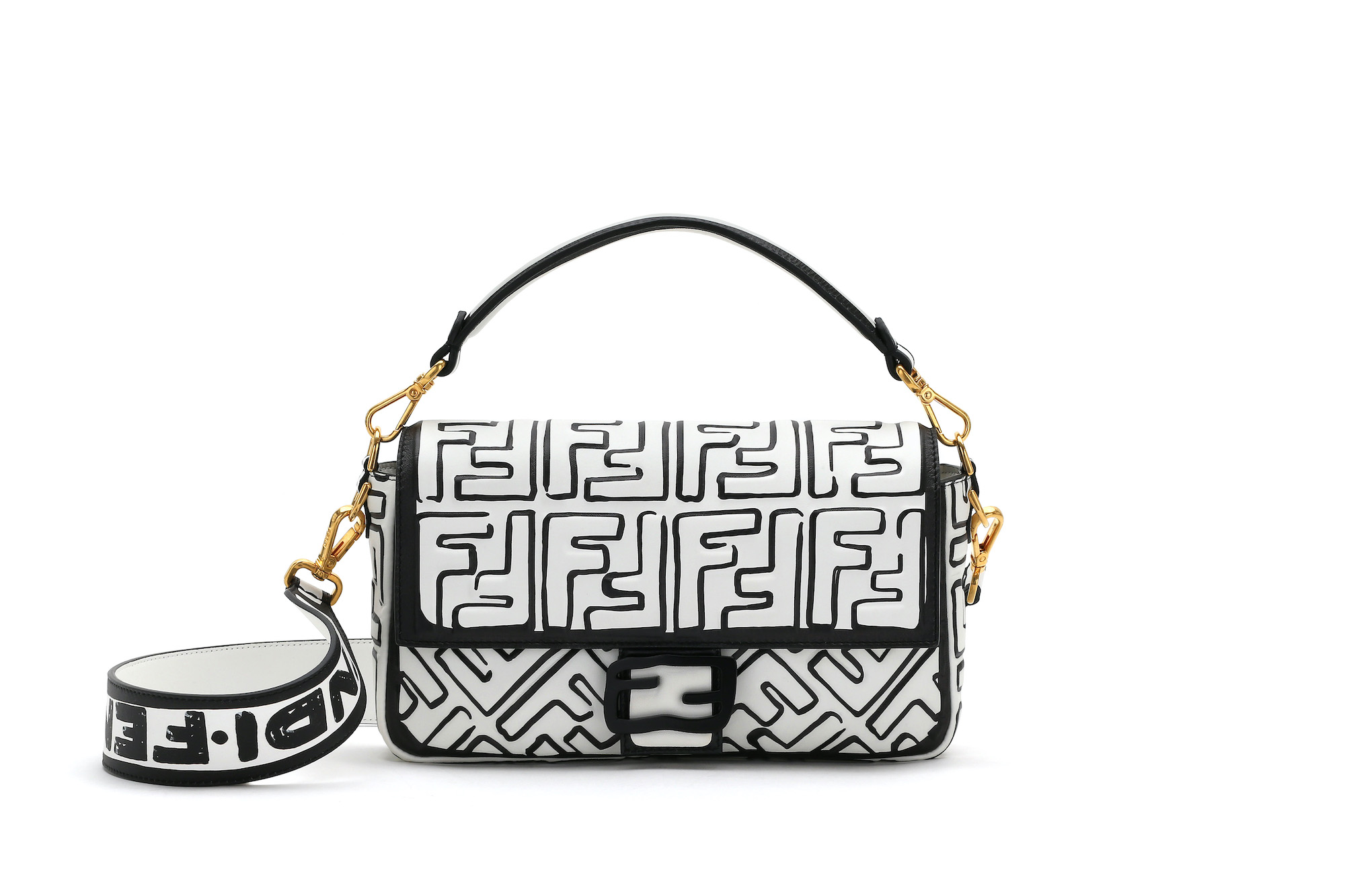 FENDI prefall collection 2020 black and white fendi bag