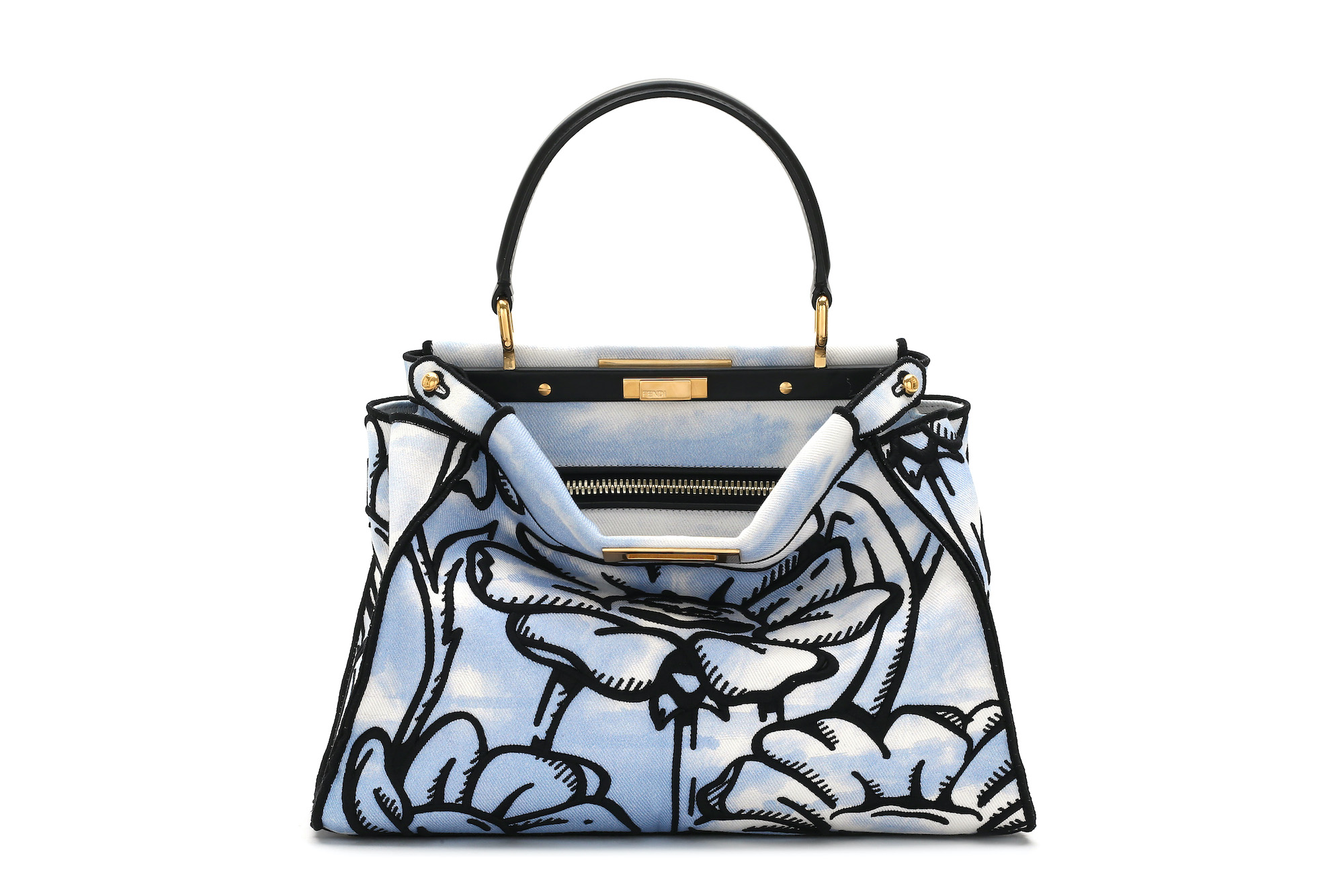 FENDI California Sky flower print bag