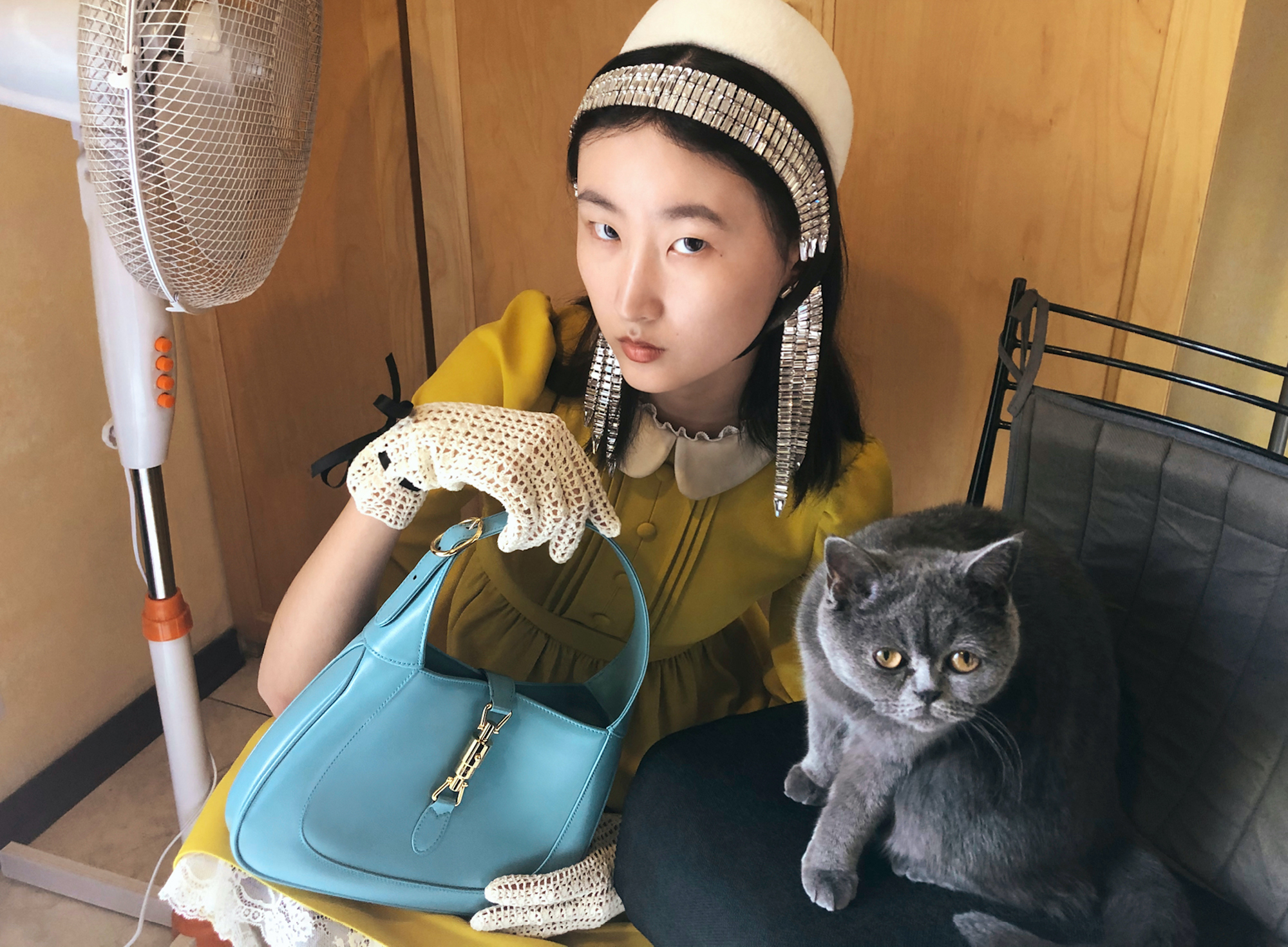 Gucci AW20 campaign Cat with bag