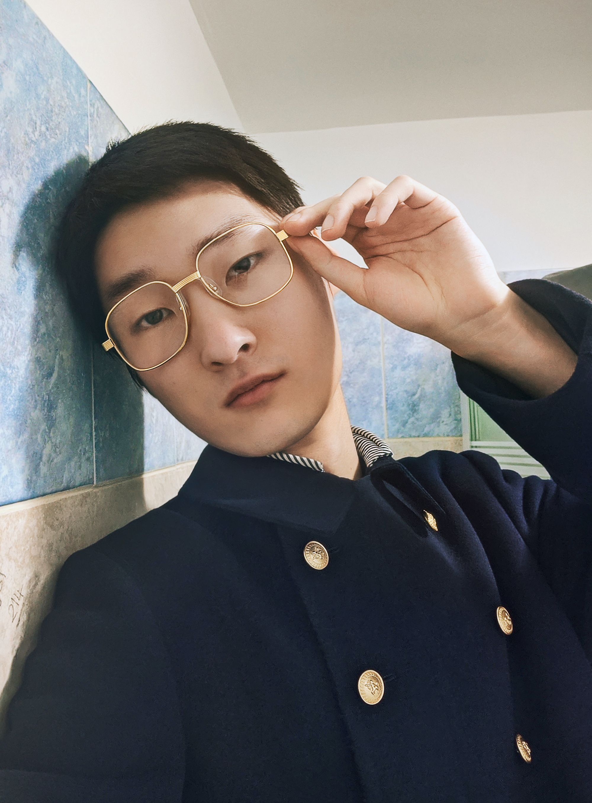 Gucci AW20 campaign model with glasses