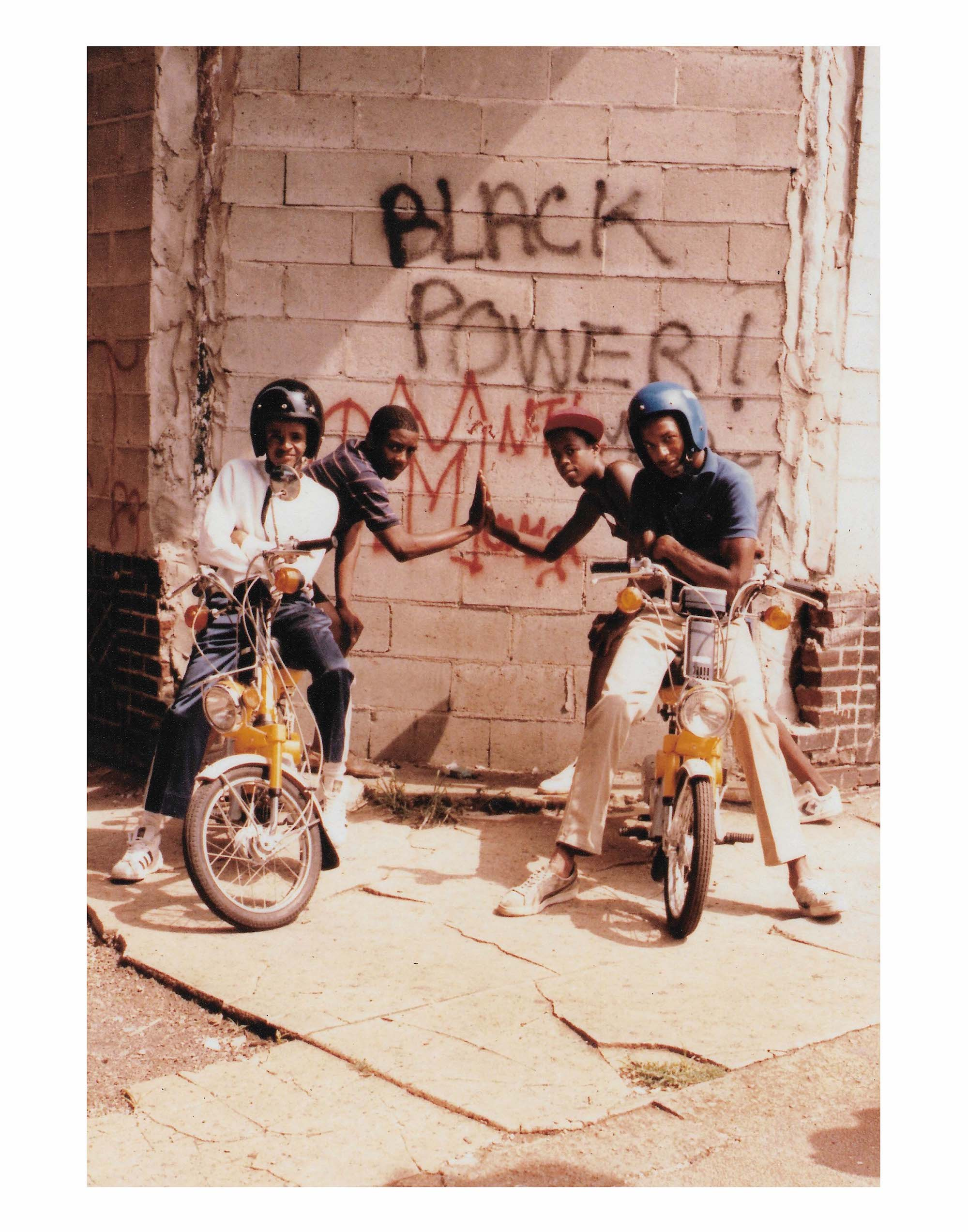 JAMELL BLACKPOWER group of friends on bikes