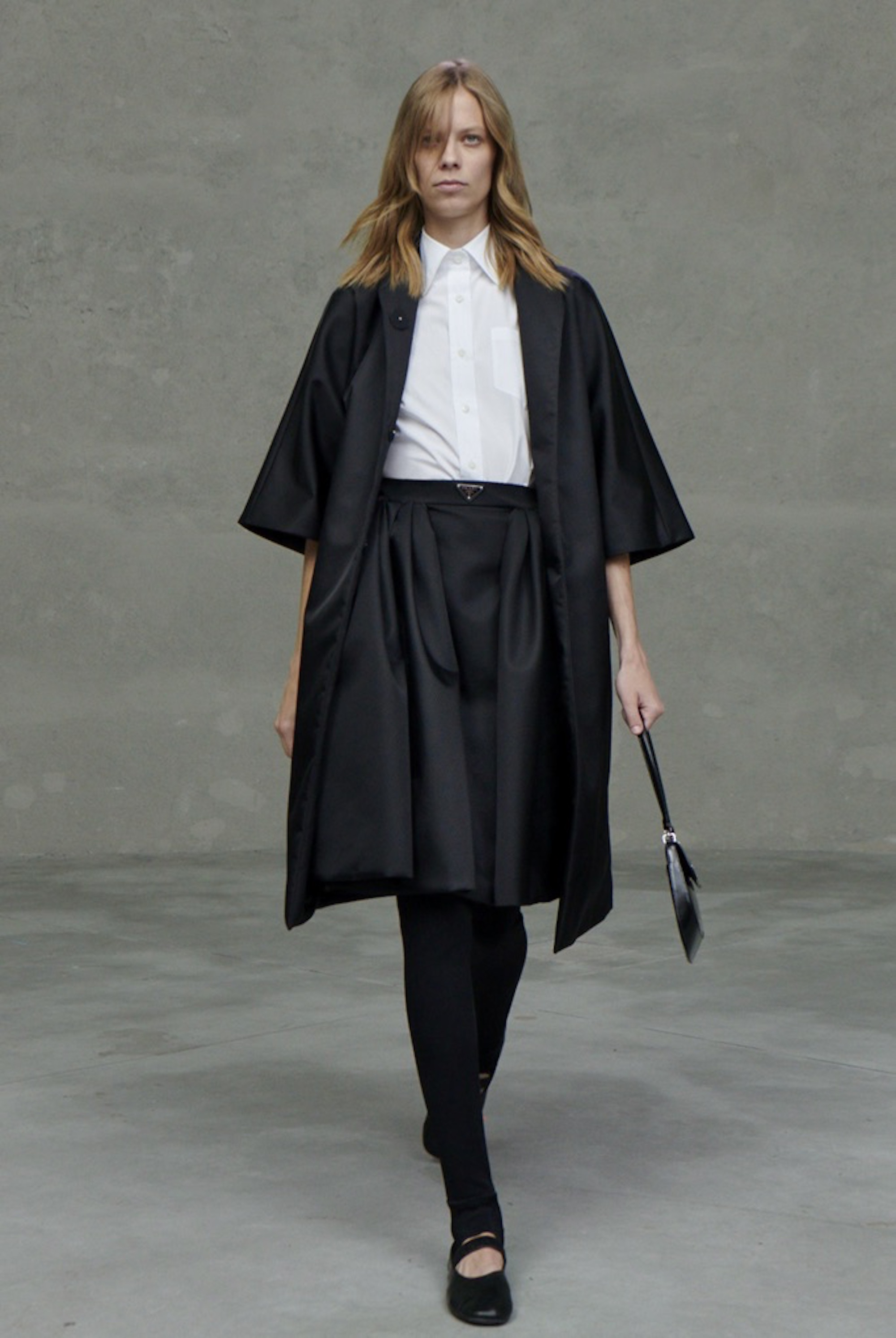 Prada SS21 collection black jacket with black culottes
