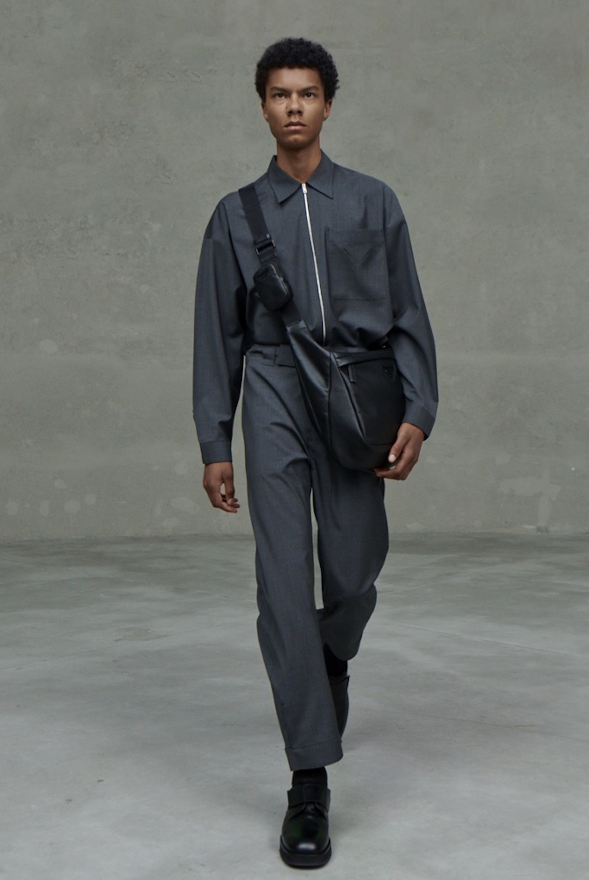 Prada SS21 collection black two piece