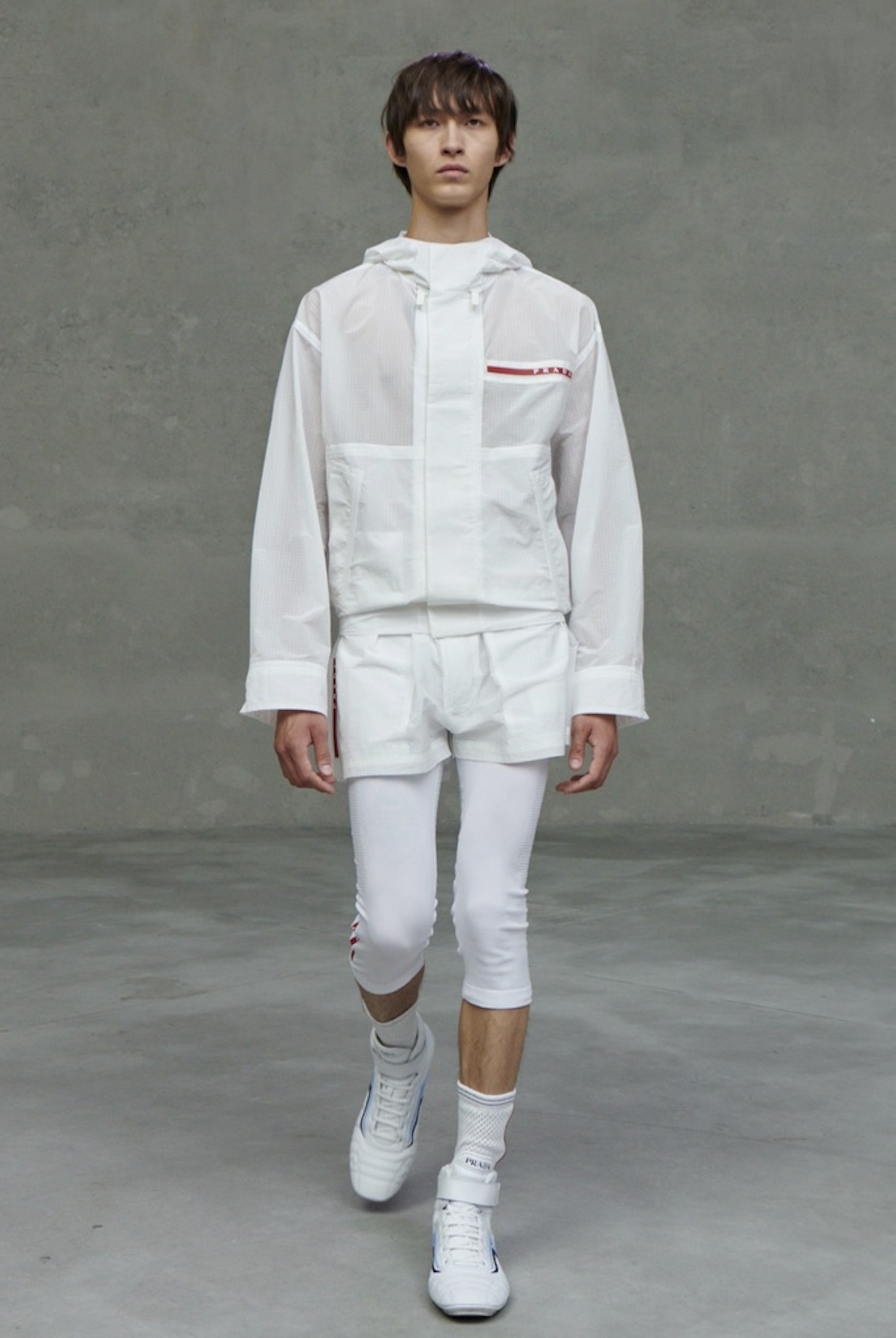 Prada SS21 collection white two piece