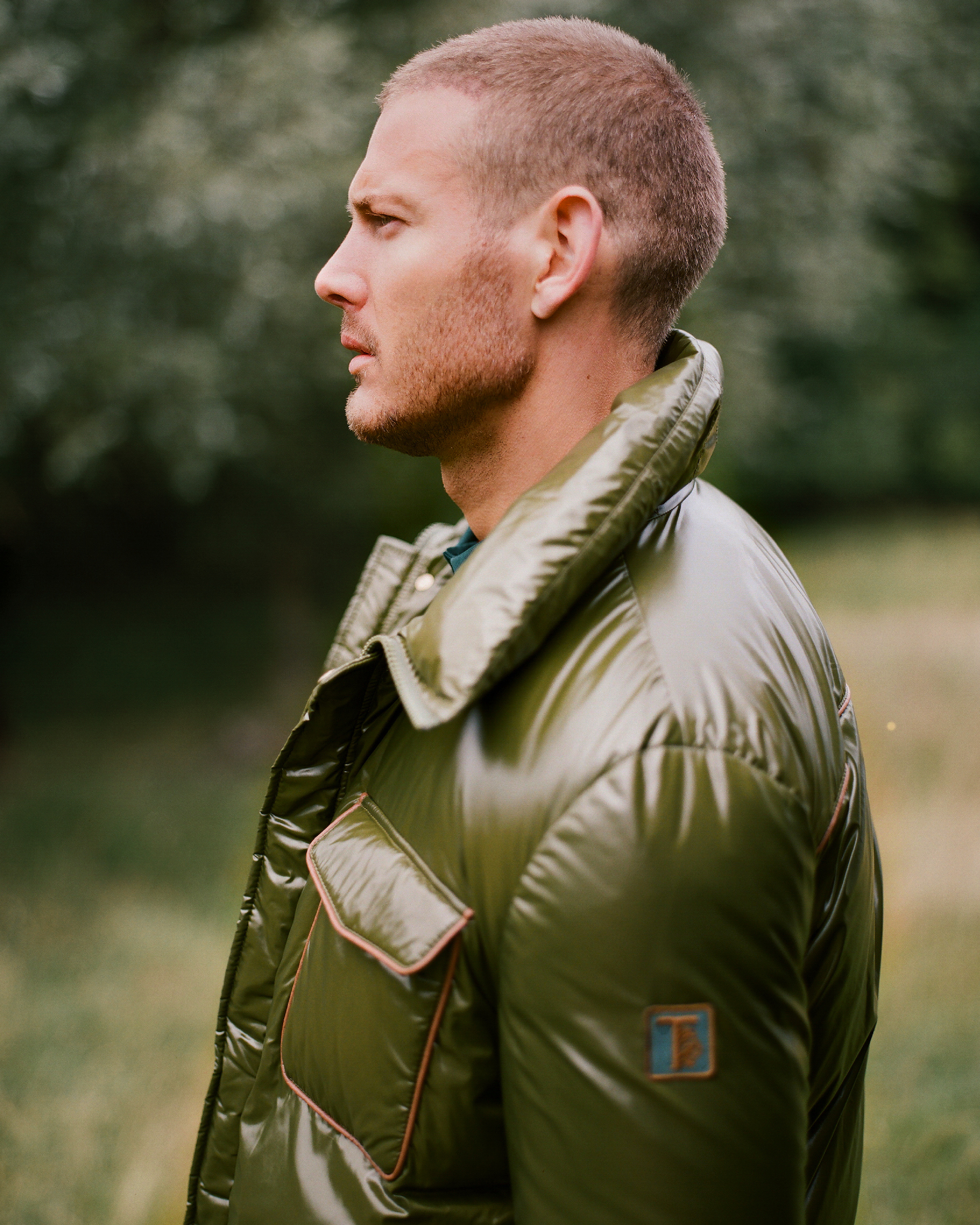 Tom Hopper for Man About Town green outfit