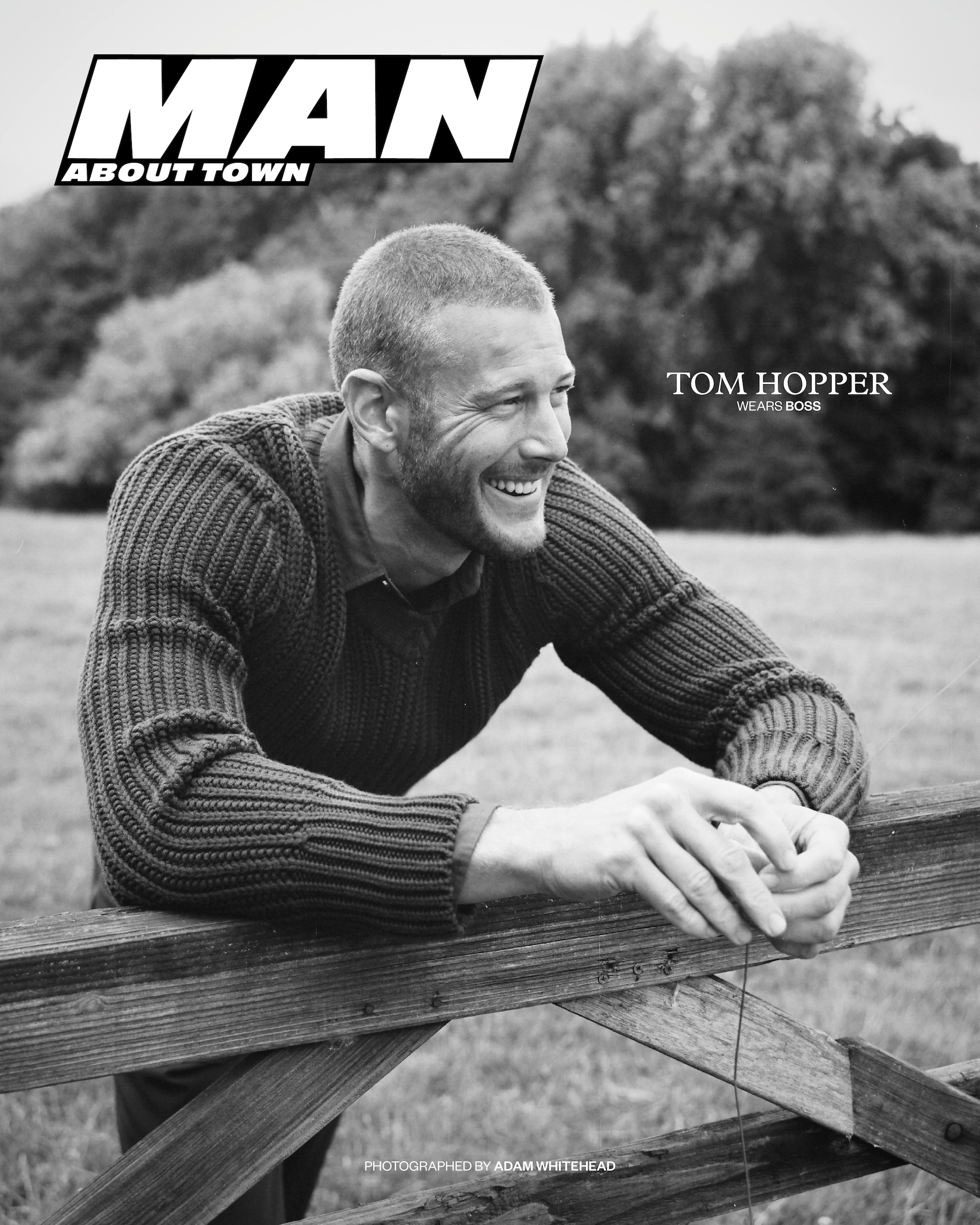 Tom Hopper for Man About Town black and white cover