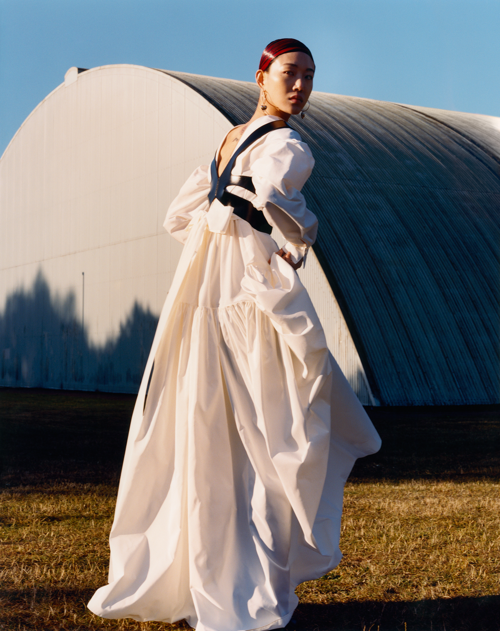 Alexander McQueen Autumn/Winter 2020 campaign white dress back