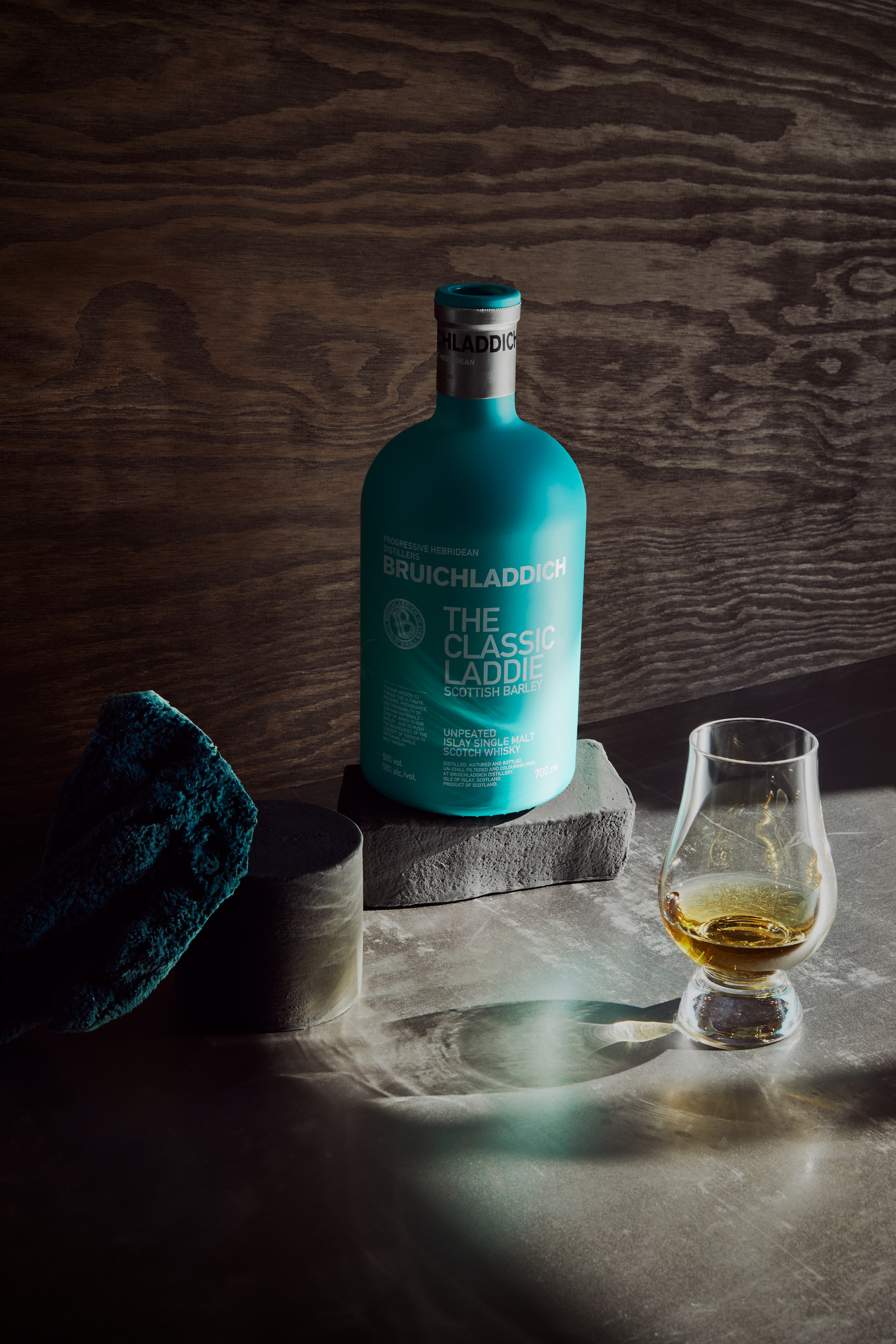 Classic Laddie with dram glass