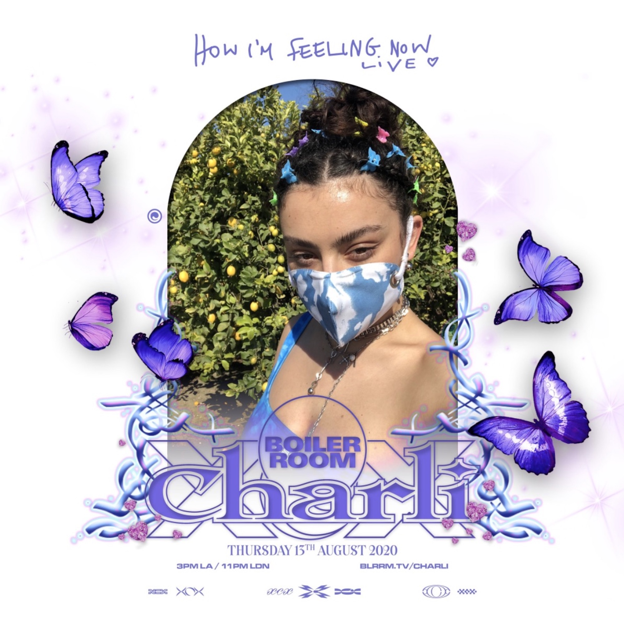 Charli xcx announces live stream with boiler room to raise money for charity