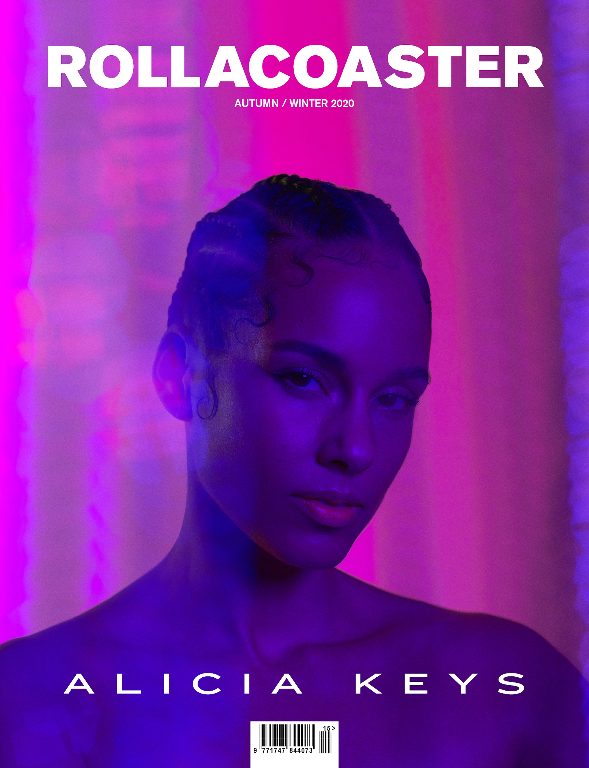Alicia Keys is the digital cover star for Rollacoaster