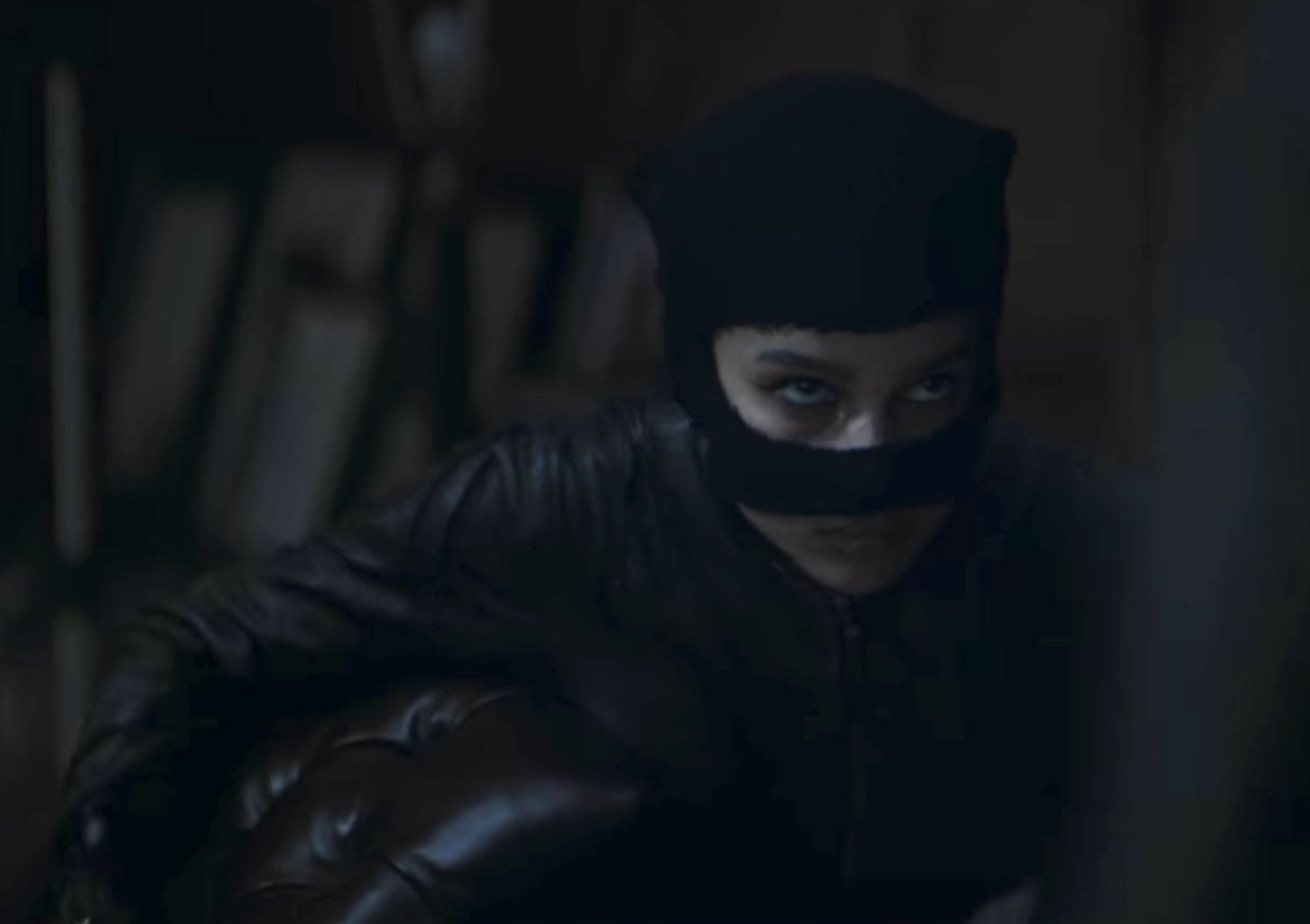 Zoe Kravitz as Catwoman in the new Batman trailer