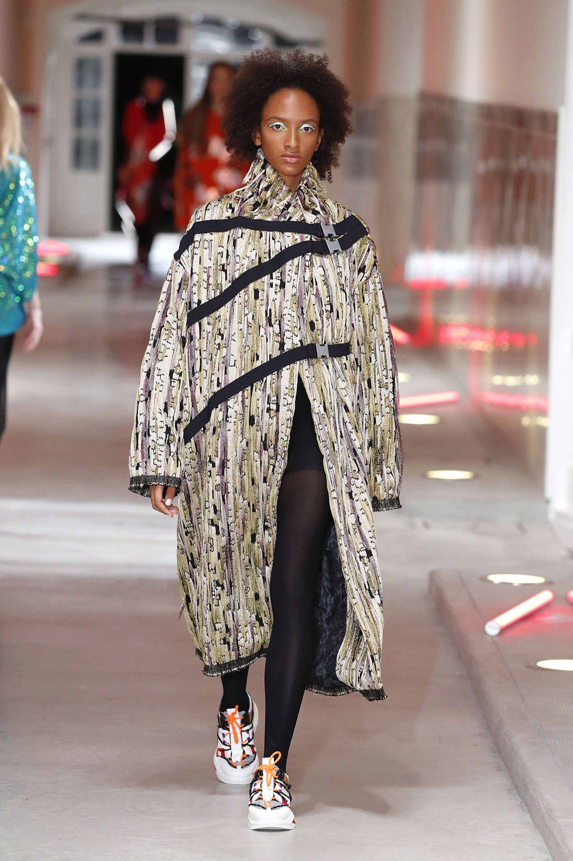 Barcelona Fashion Week 080 Custo Barcelona longline coat