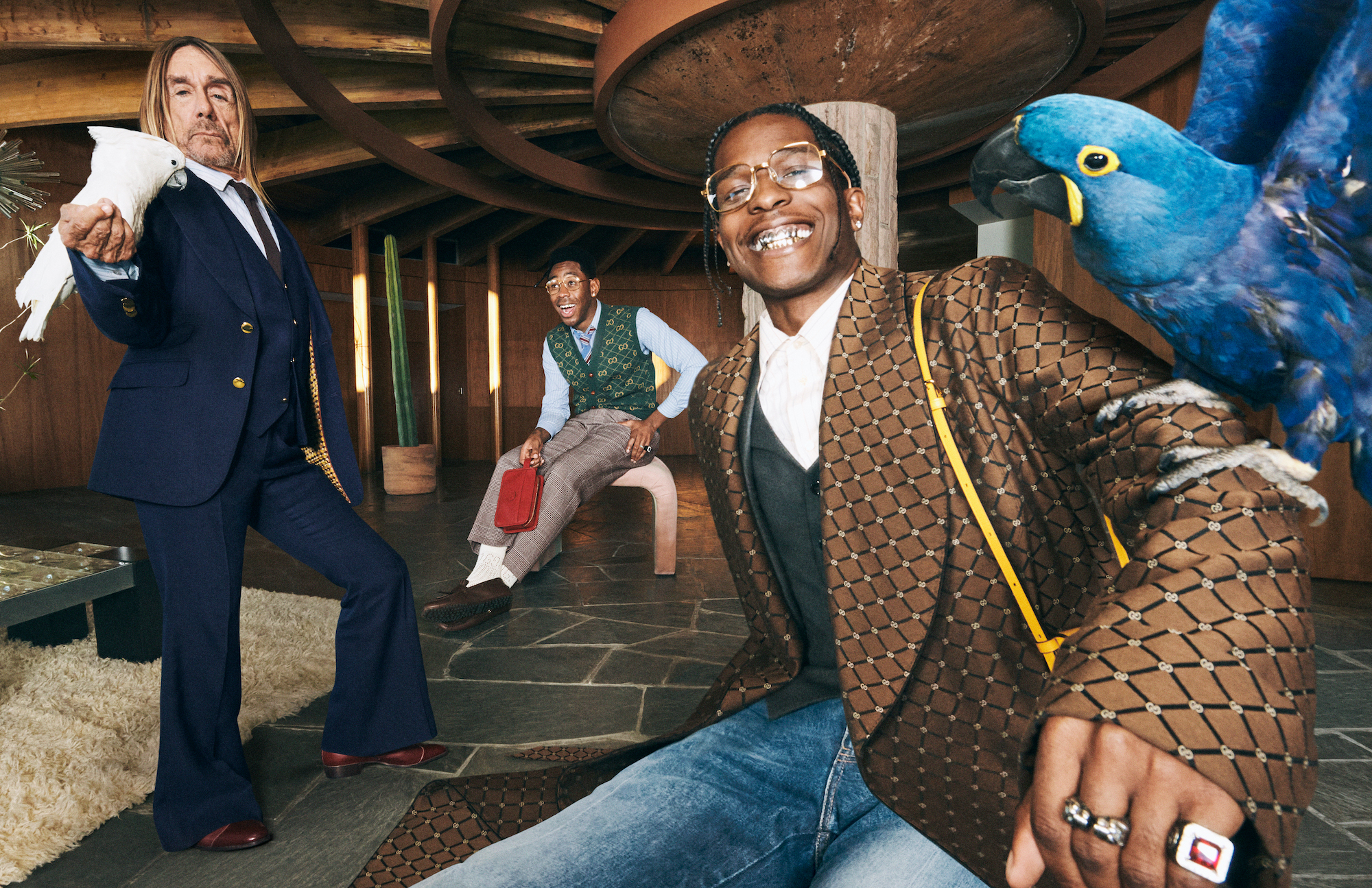 Gucci Mens Tailoring Iggy A$AP Tyler Parrot