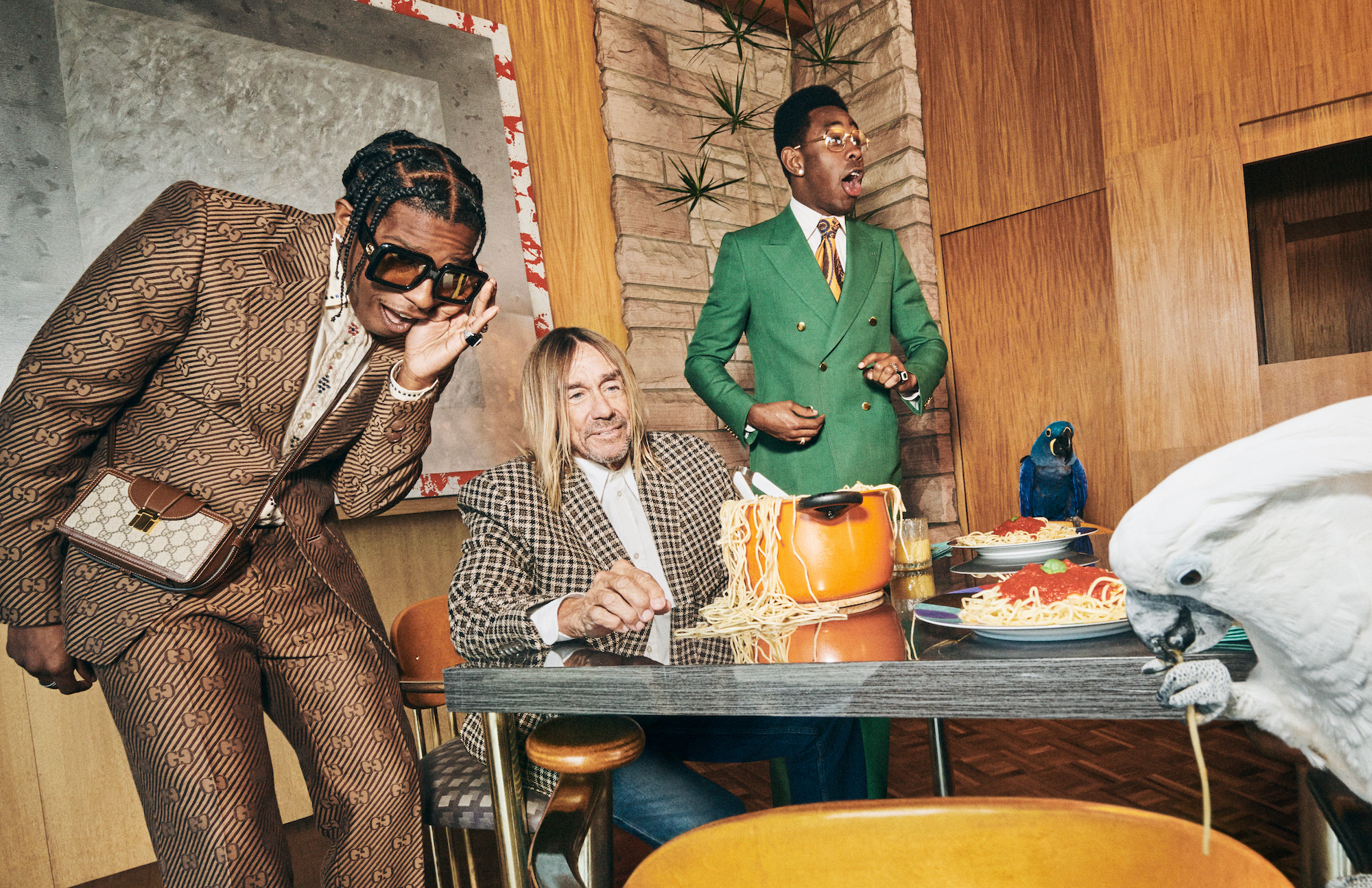 Gucci Mens Tailoring Iggy A$AP Tyler Spaghetti