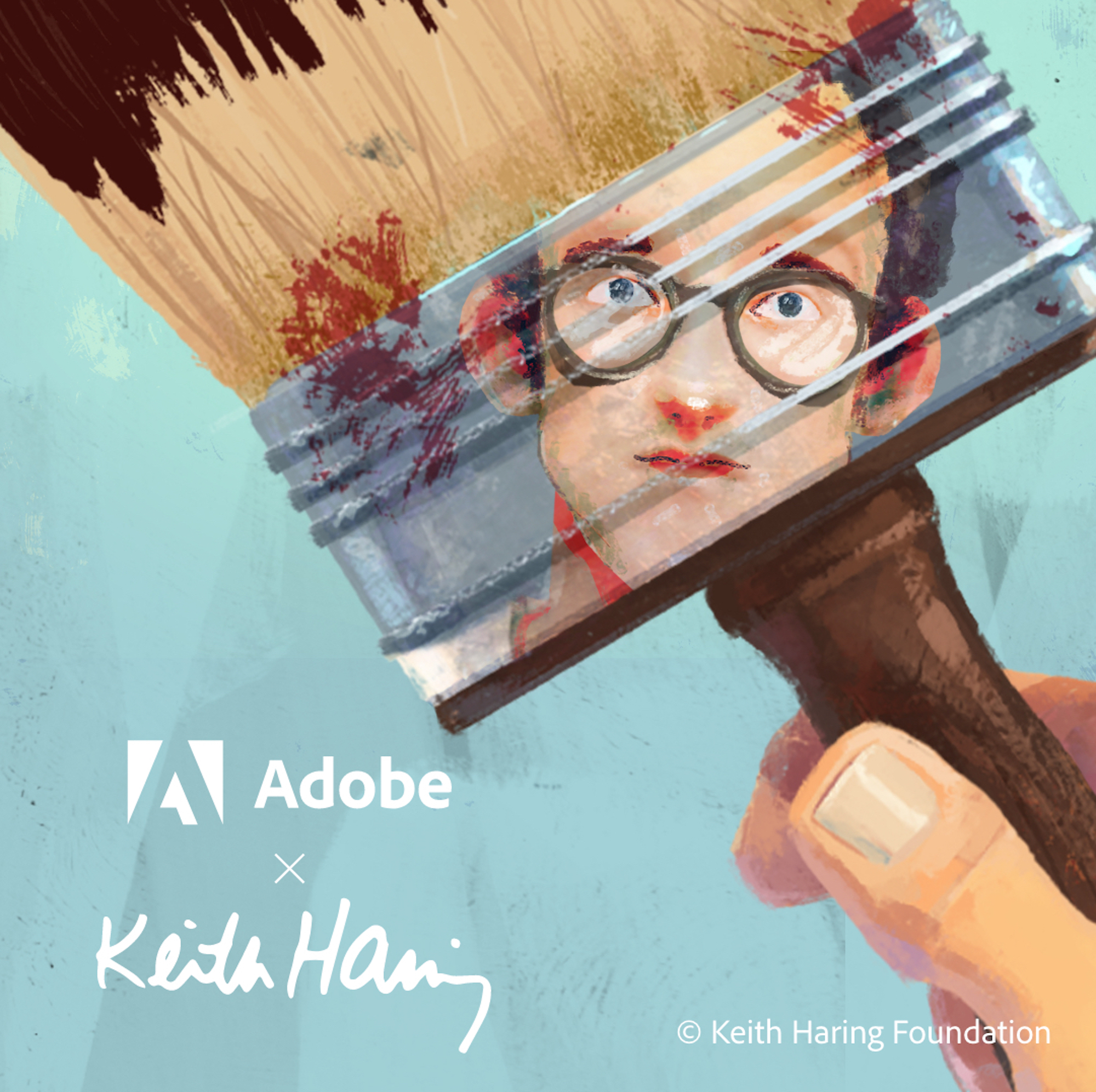 Keith Haring Adobe brushes reflect