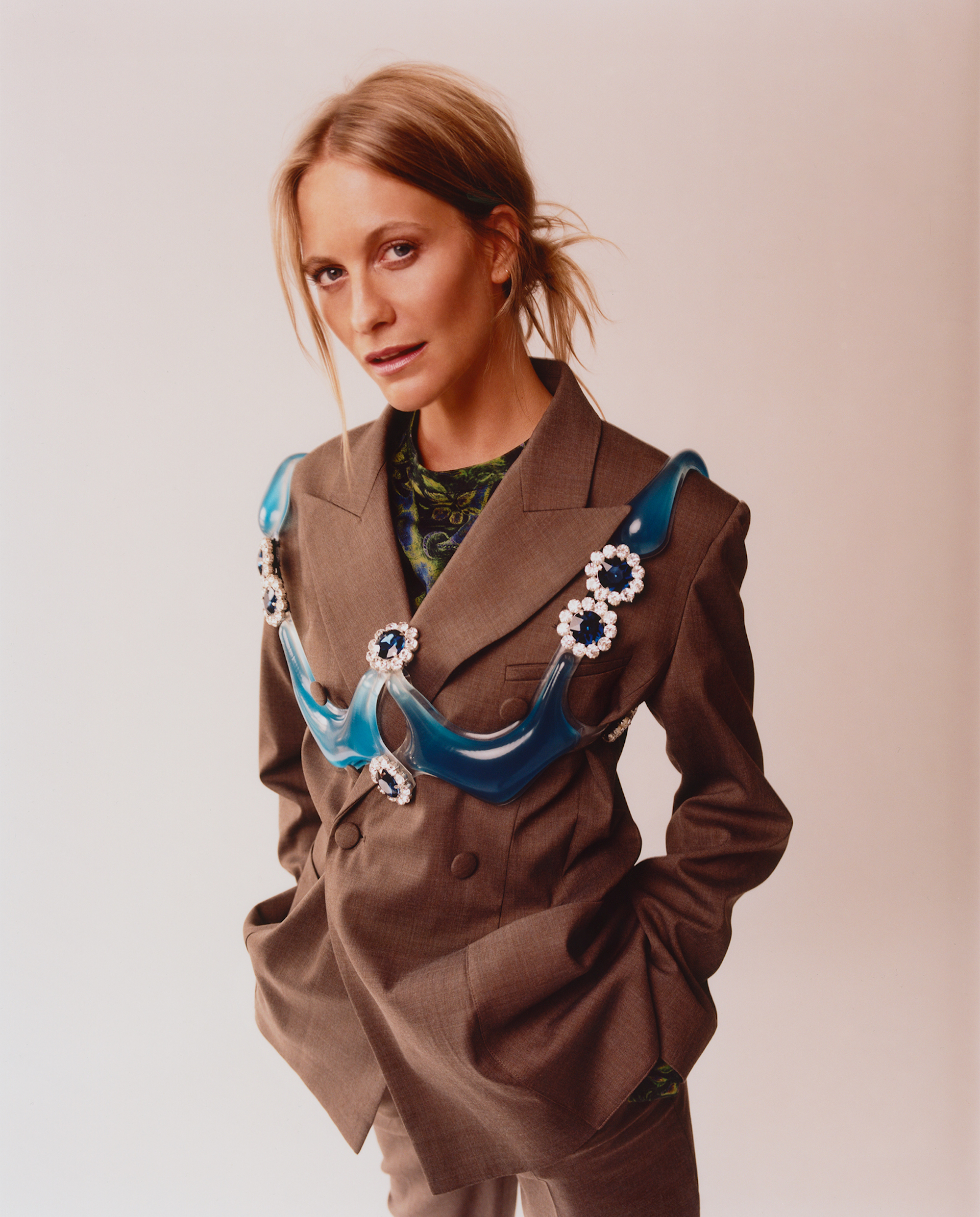 Poppy Delevingne covers Rollacoaster suit harness