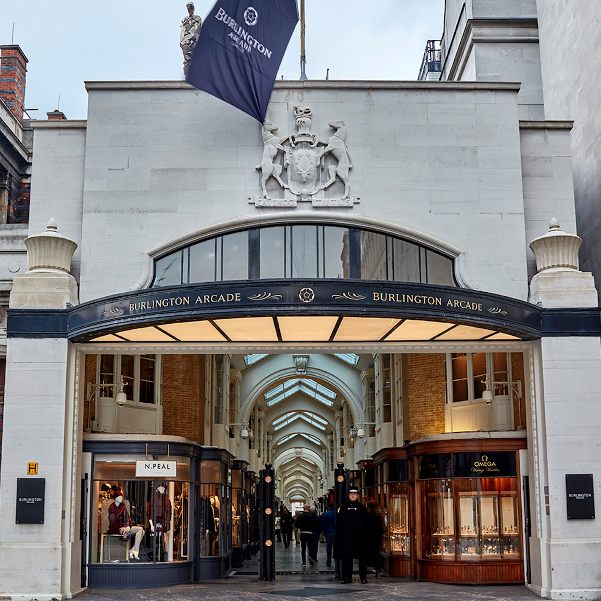 Burlington Arcade x Kick Game front facade