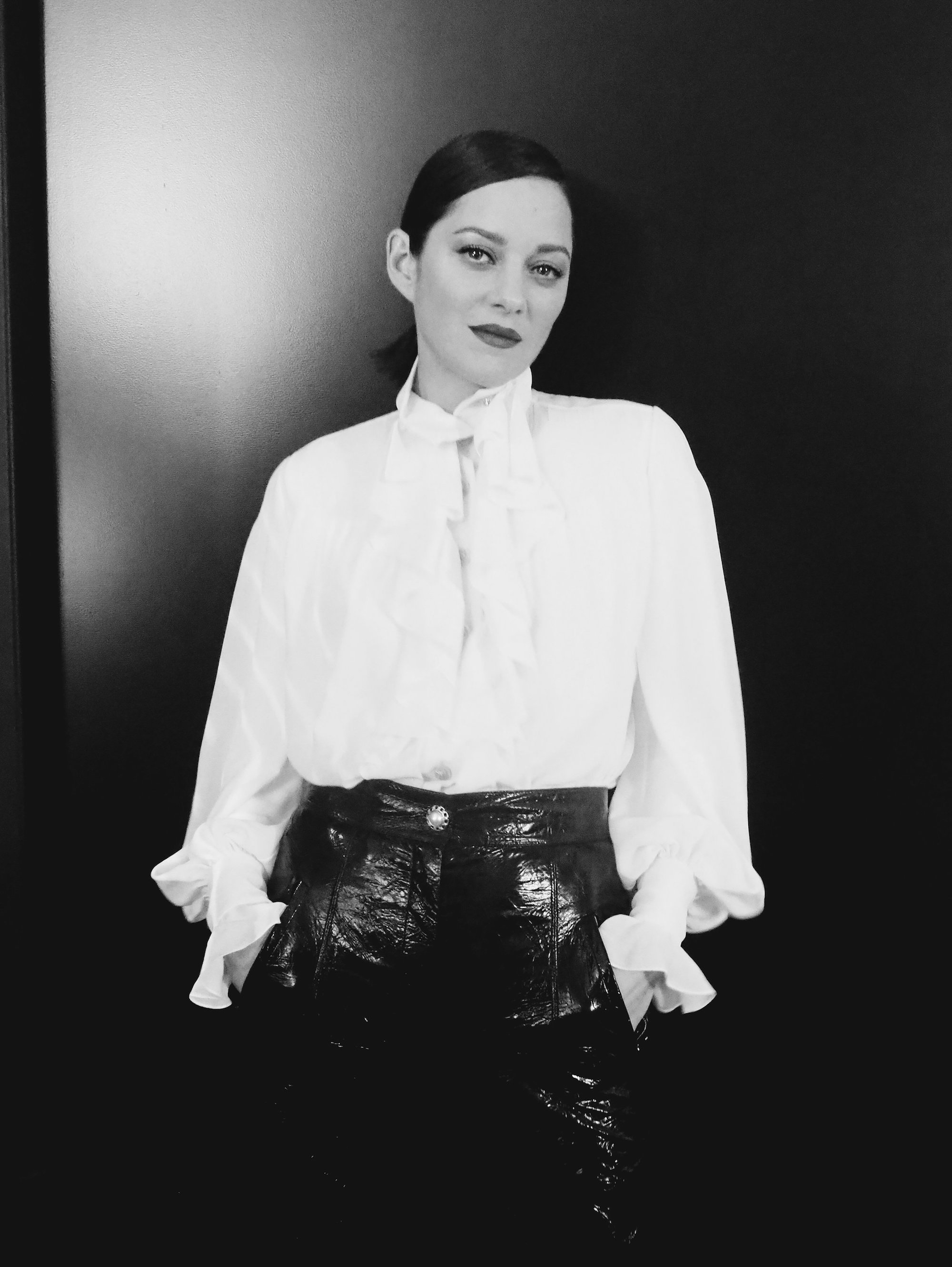 Marion Cotillard for Chanel No 5 black and white