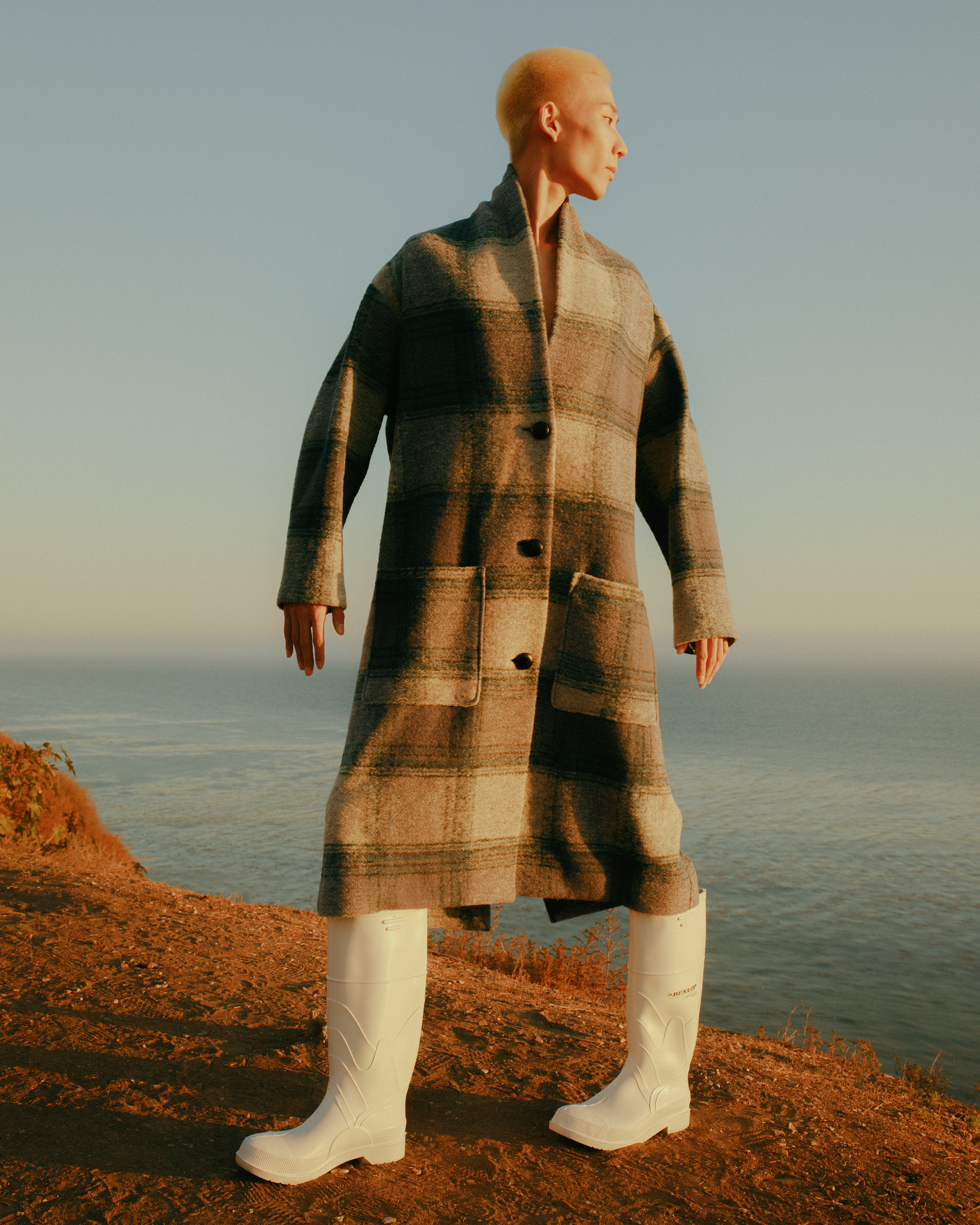 Like The Wind Men's Fashion Editorial check coat stance