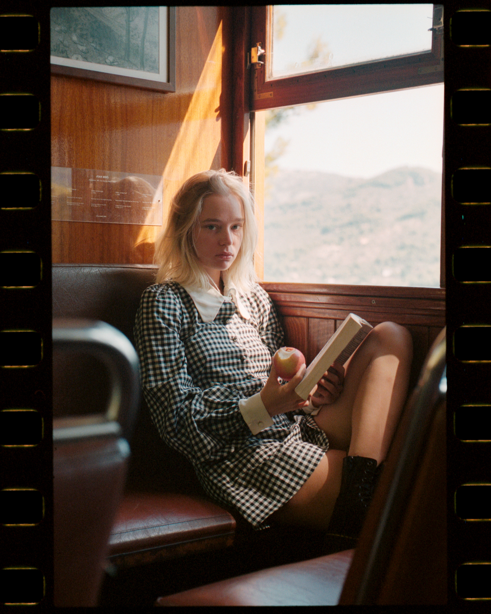 Maddi Waterhouse features in Rollacoaster magazine train sitting
