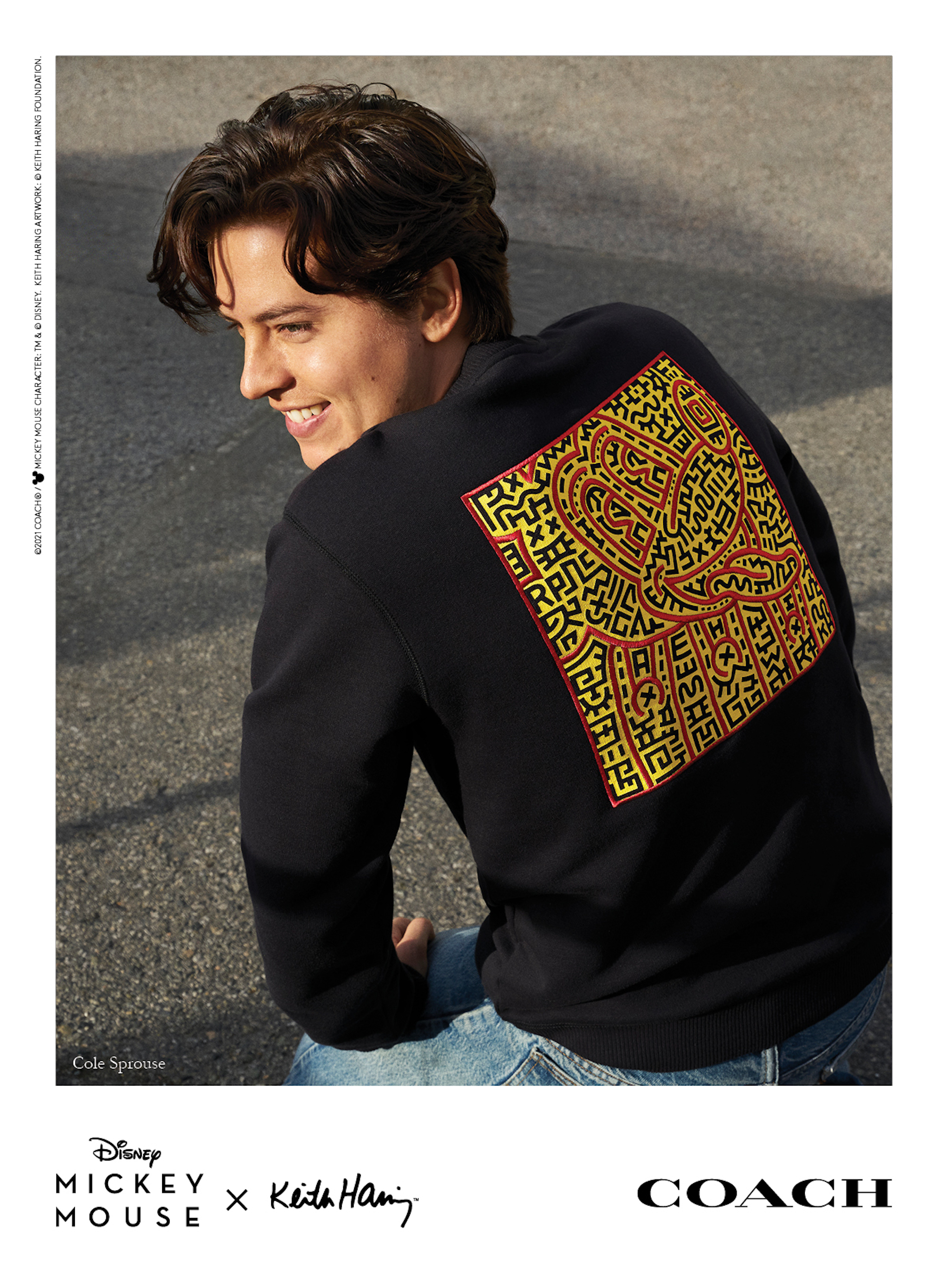 Mickey x Keith Haring for Coach Cole Sprouse