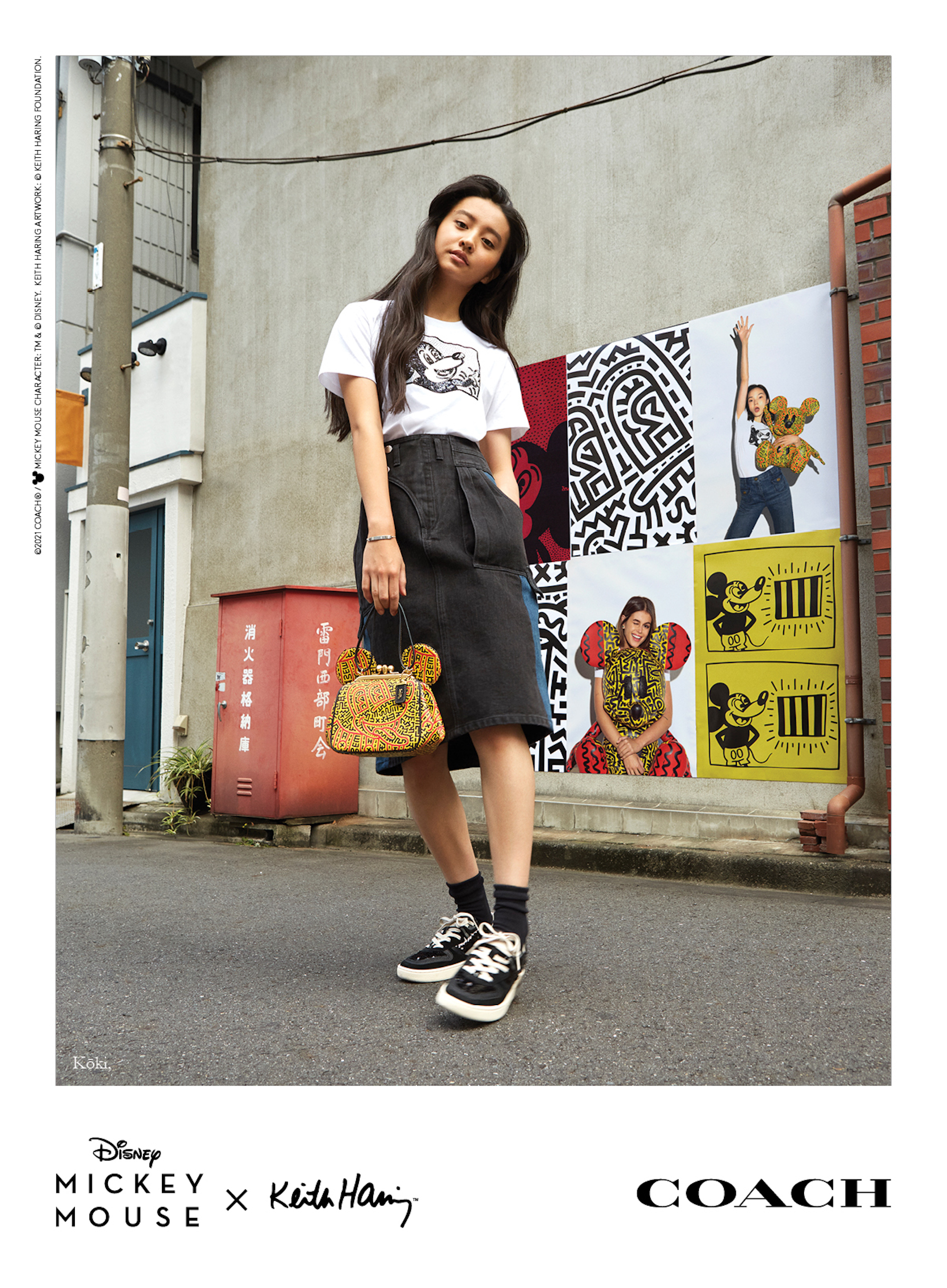 Mickey x Keith Haring for Coach Koki