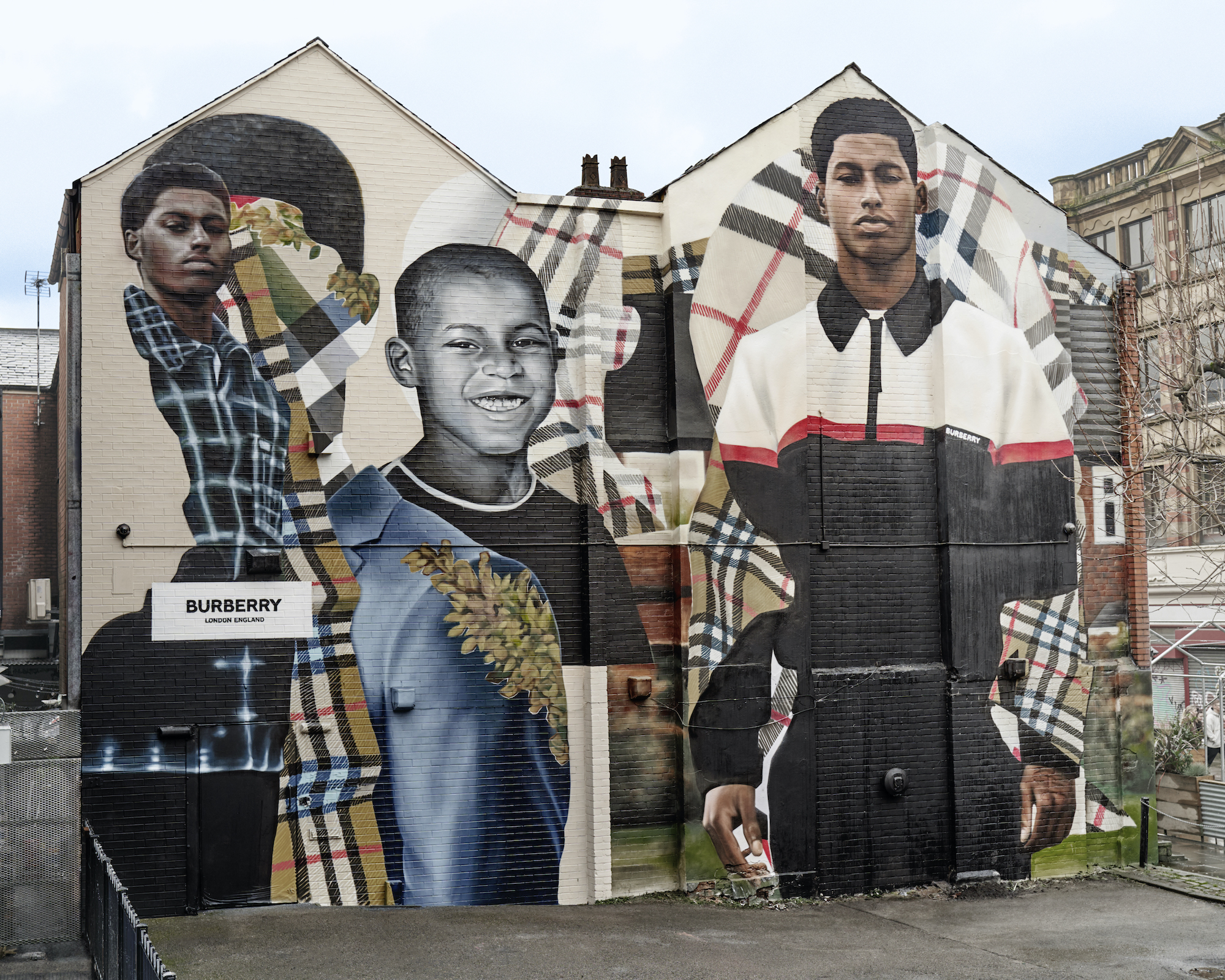 Mural images of Macus Rashford Manchester