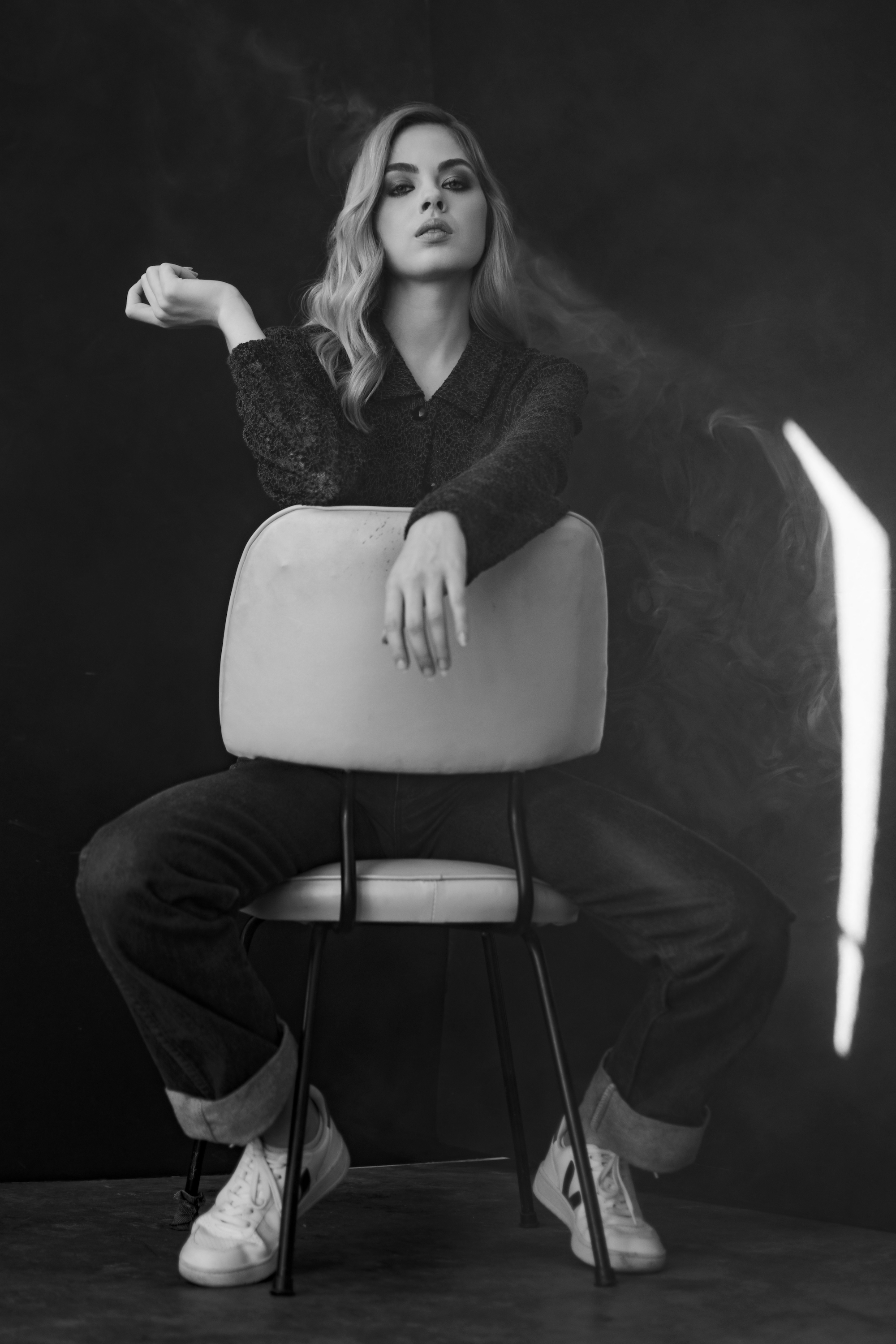Sarah Douglas B&W Chair