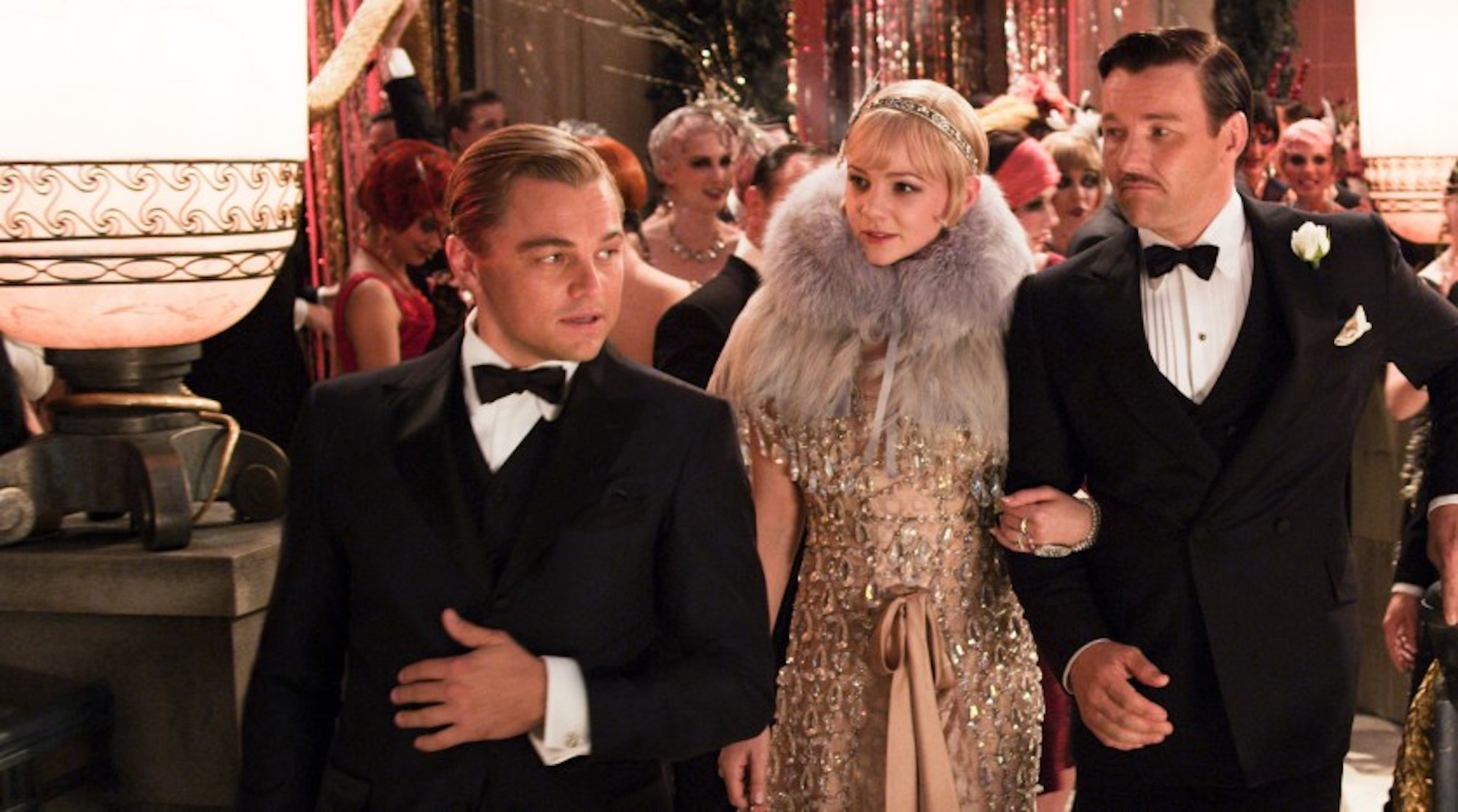 The great gatsby 2013 party scene Leonardo DiCaprio