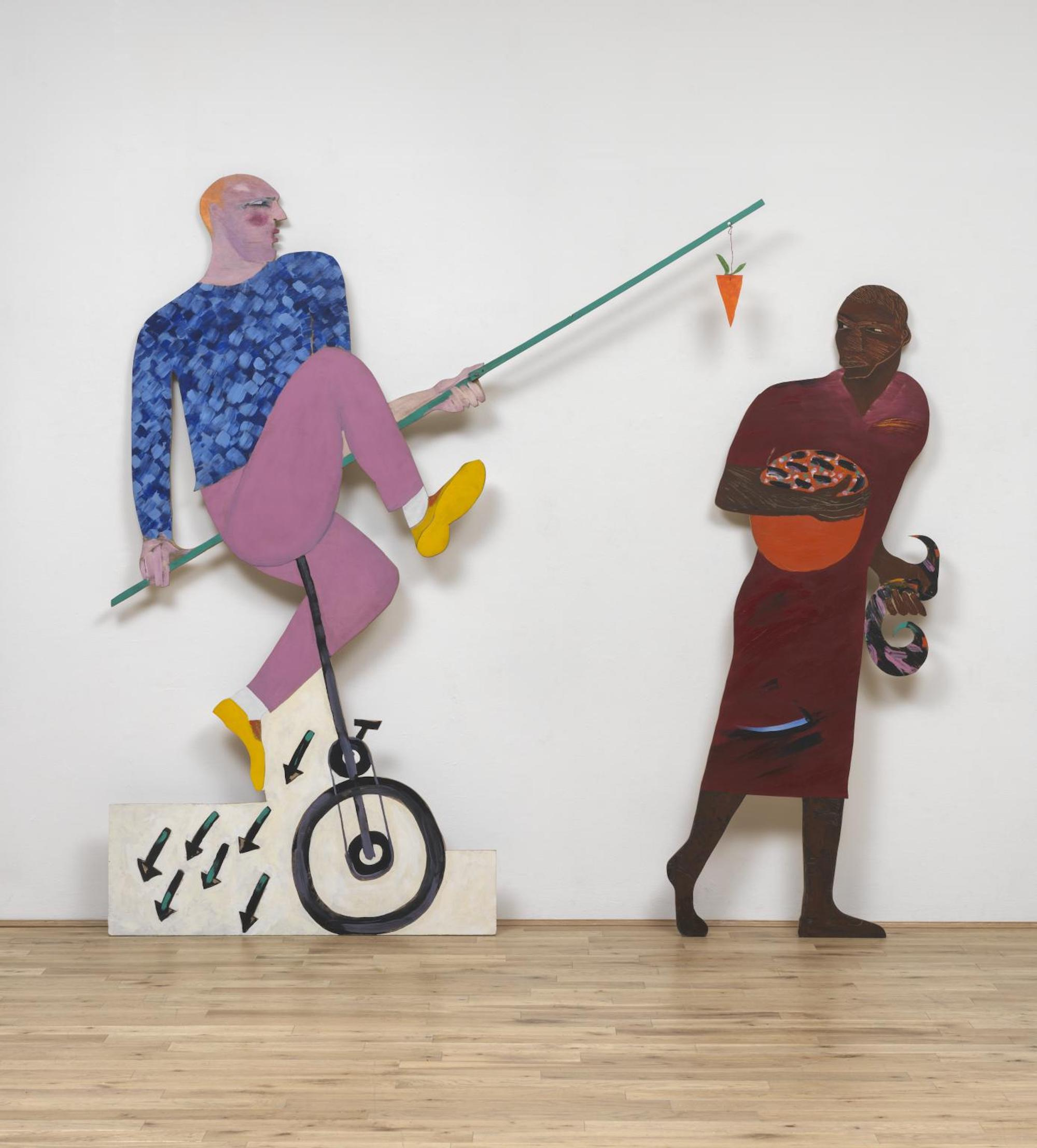 The Carrot Piece 1985 by Lubaina Himid born 1954