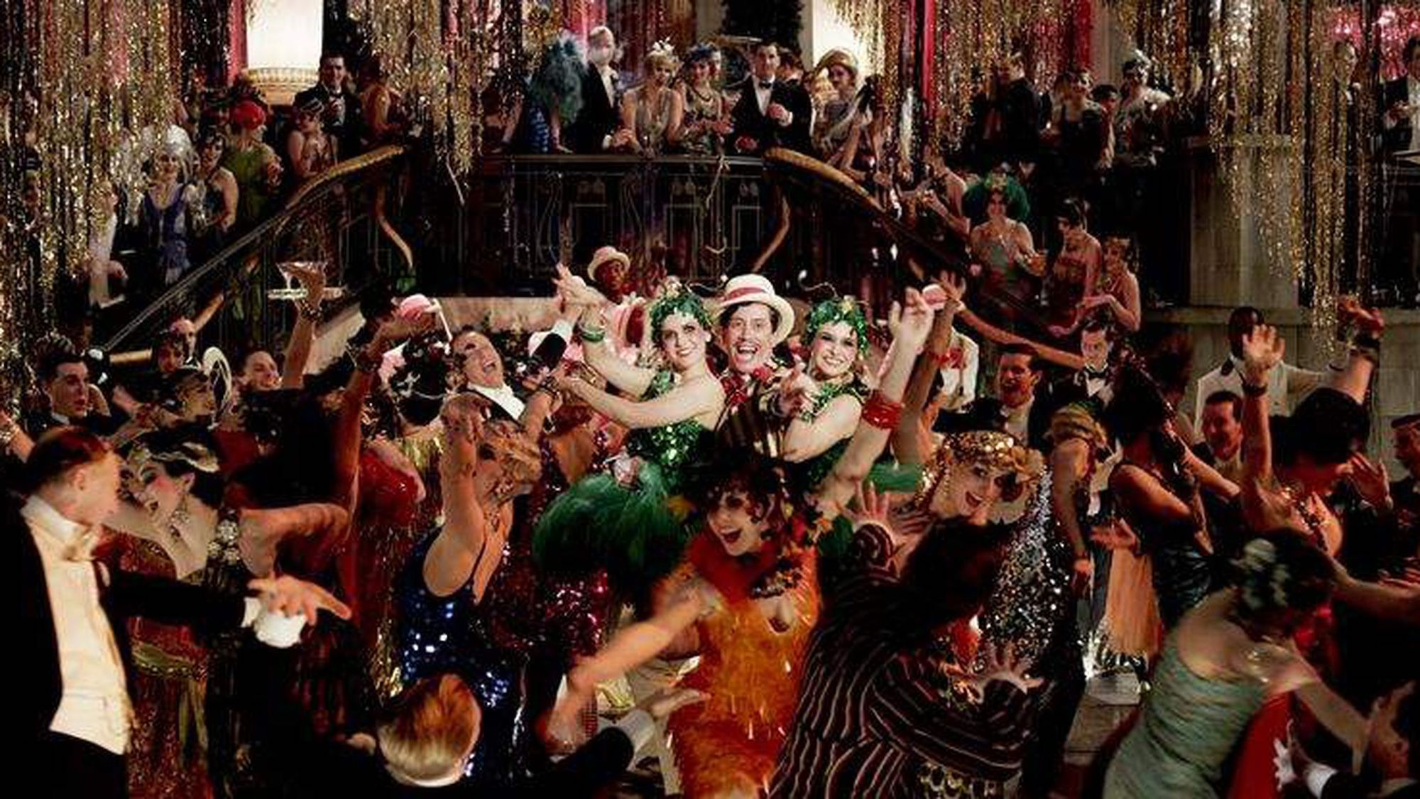 The great gatsby 2013 party scene