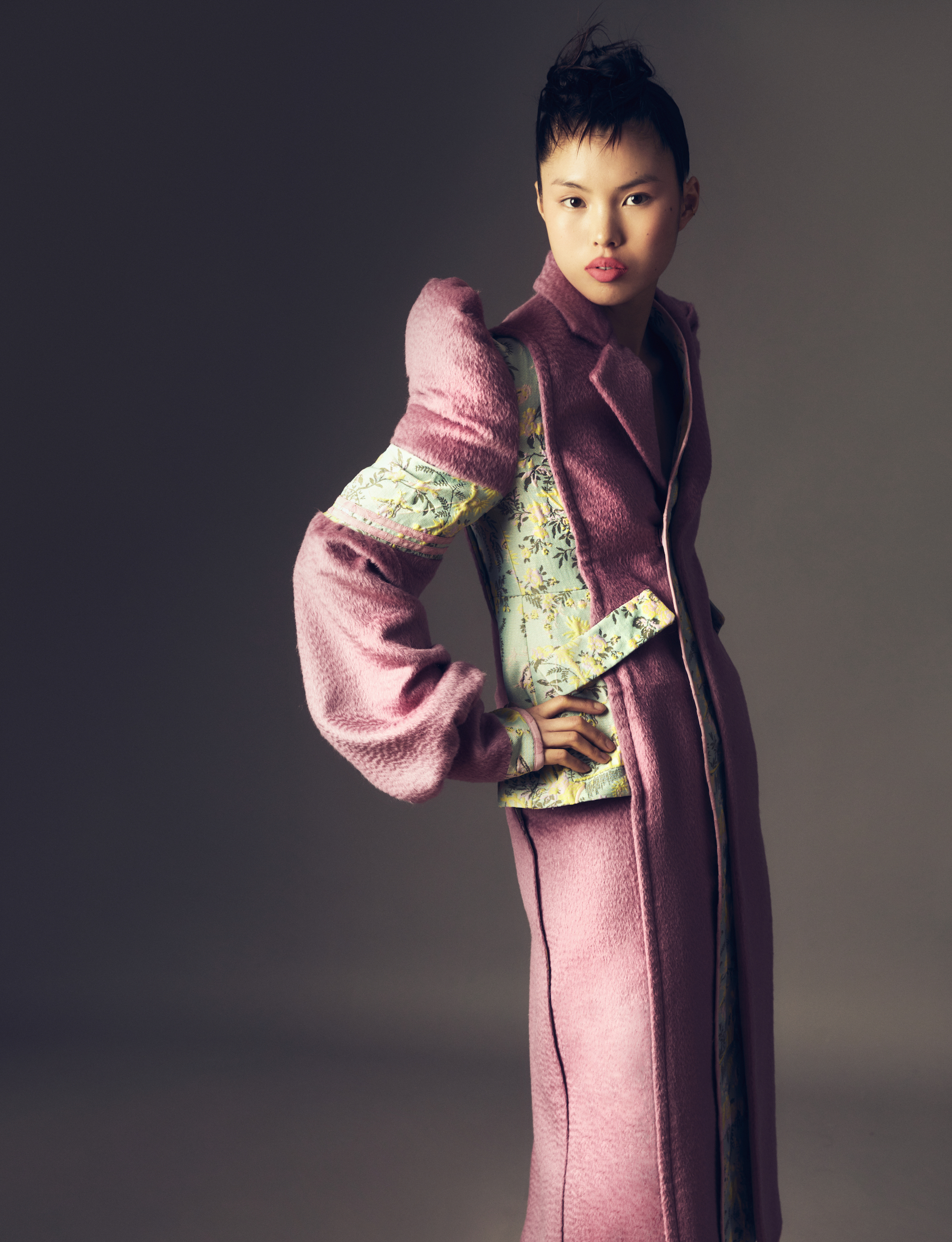 Sara Wong FW21 Collection at Milan Fashion Week pink padded side