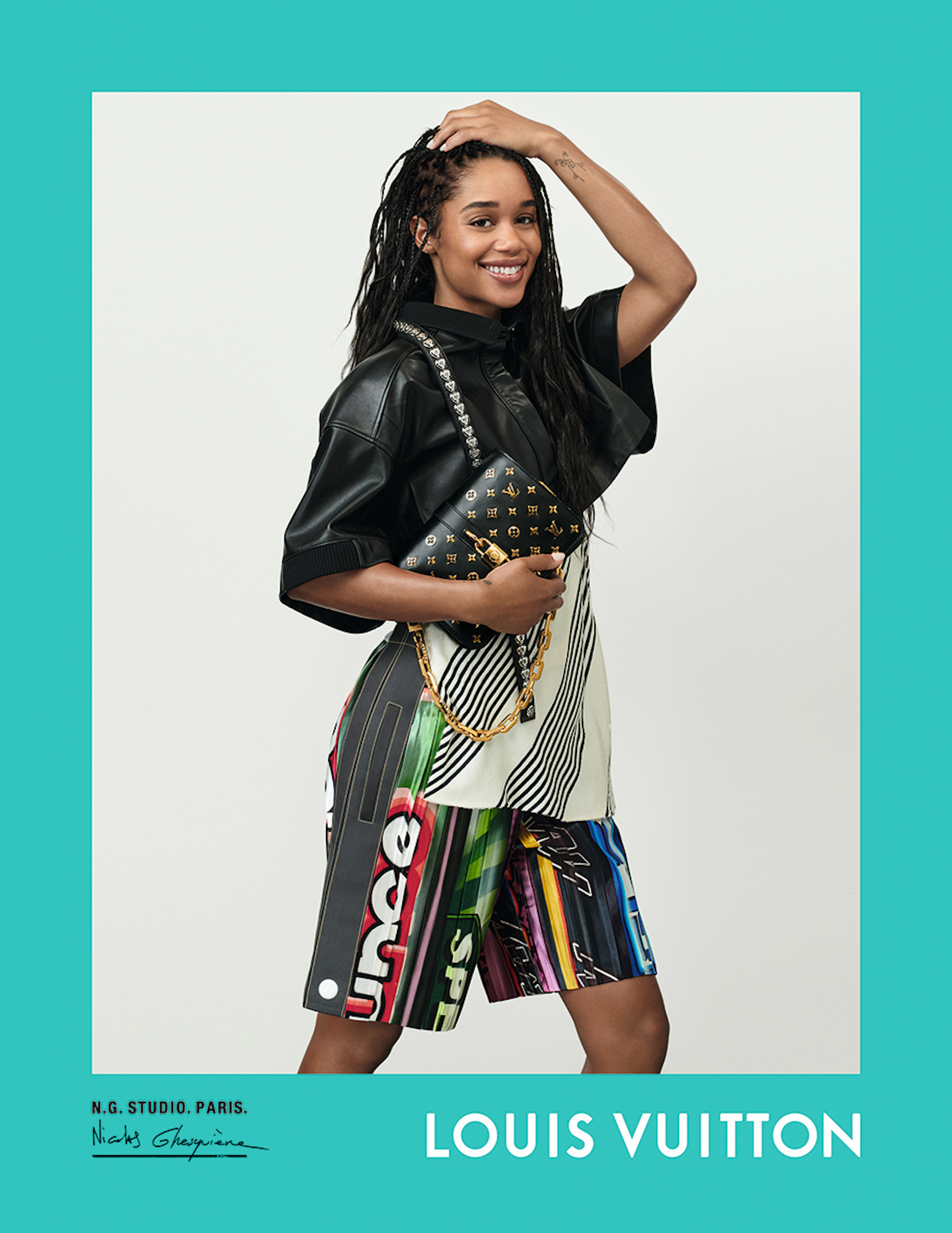 Louis Vuitton Spring Summer 2021 campaign, Nicolas Ghesquière, creative director, photographer, Laura Harrier
