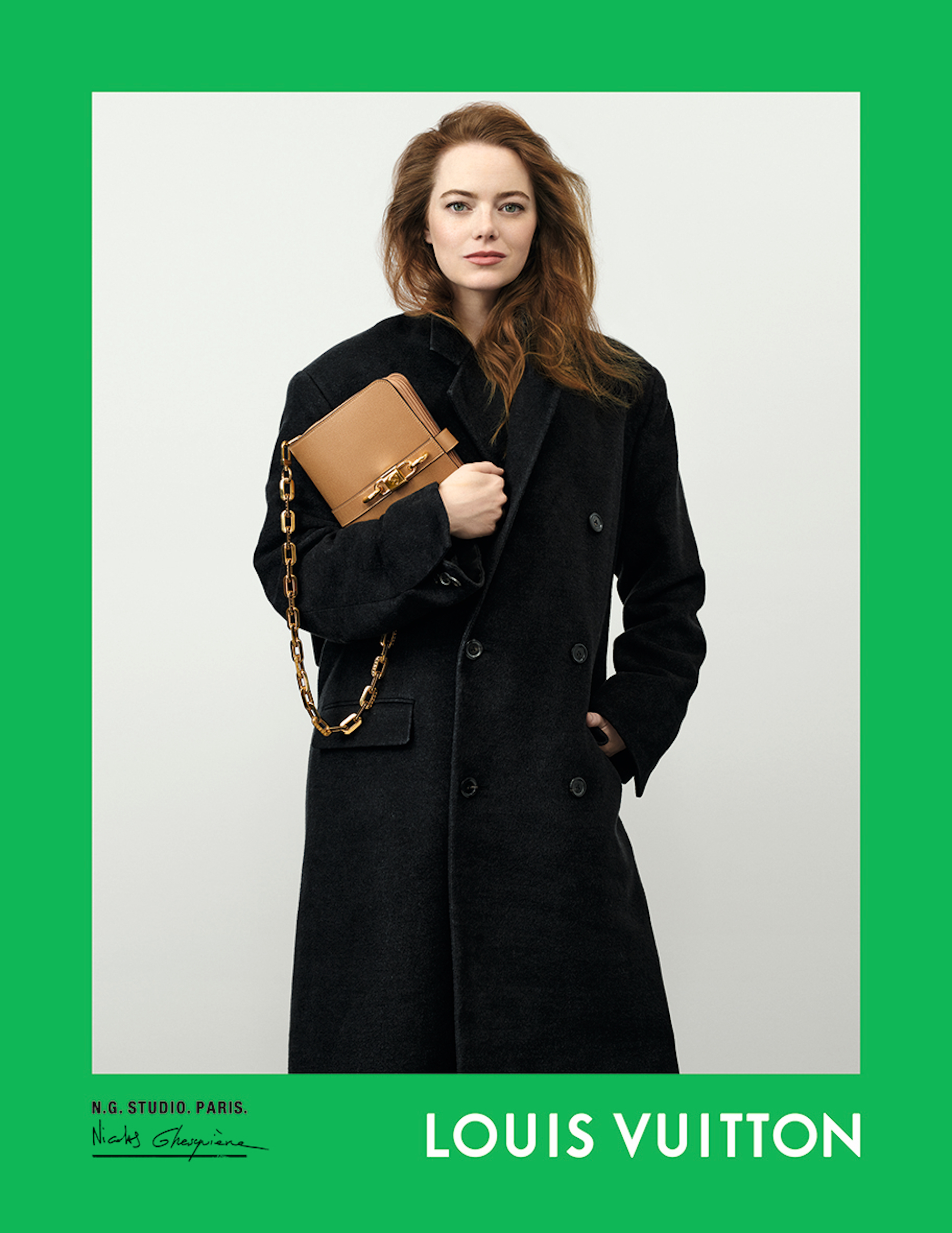 Louis Vuitton Spring Summer 2021 campaign, Nicolas Ghesquière, creative director, photographer, Oscar-winning actress Emma Stone